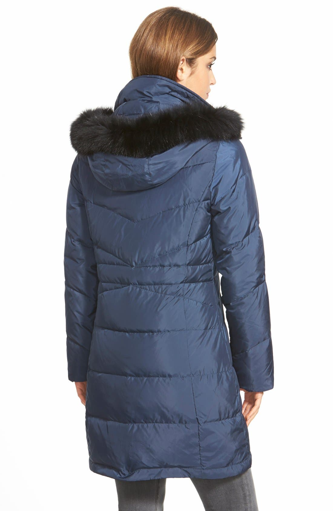 Genuine Fox Fur Trim Down Parka,                             Alternate thumbnail 21, color,