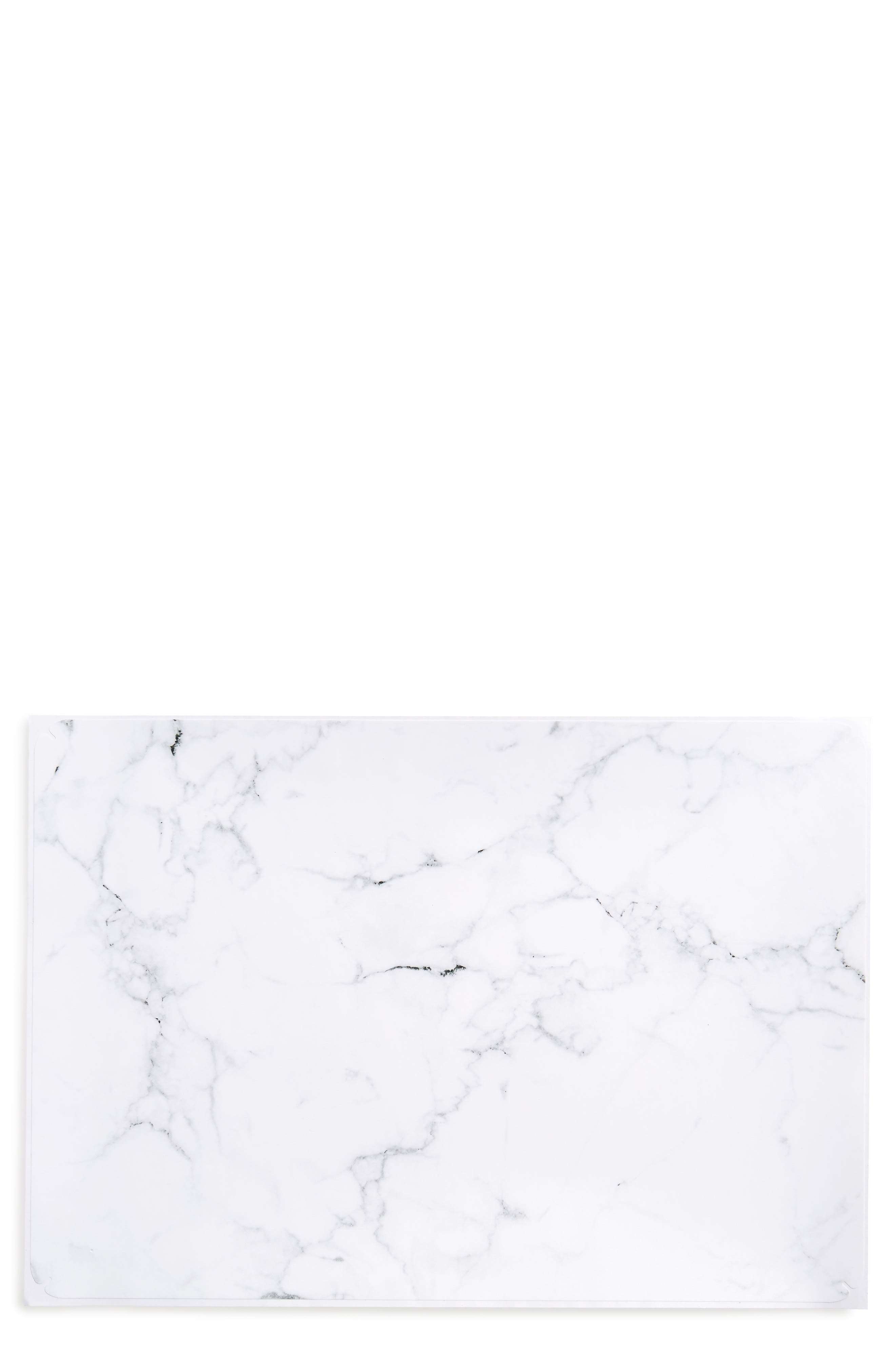 White Marble Laptop Skin,                         Main,                         color, WHITE
