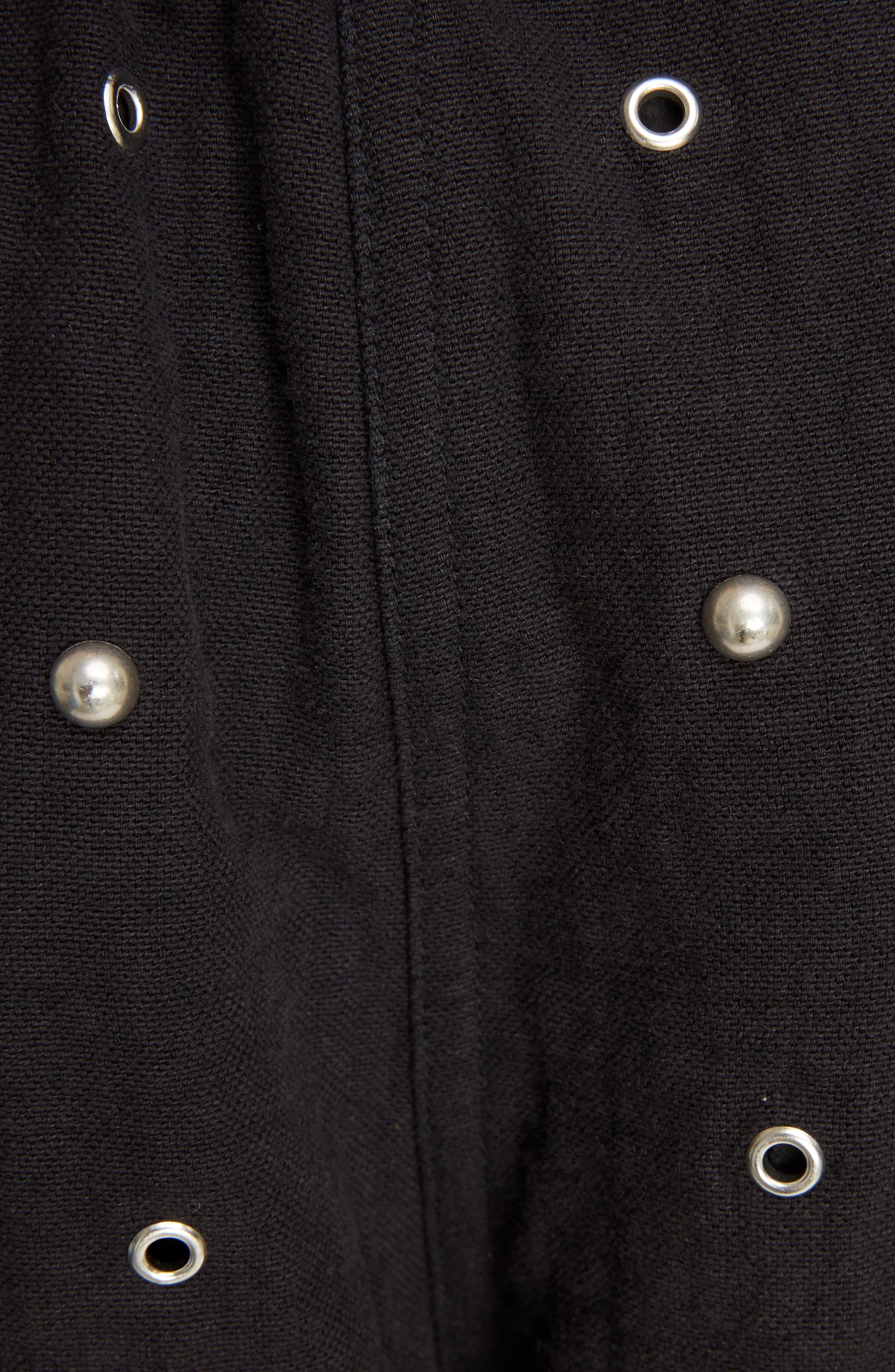 Grommet & Stud Shorts,                             Alternate thumbnail 5, color,                             002