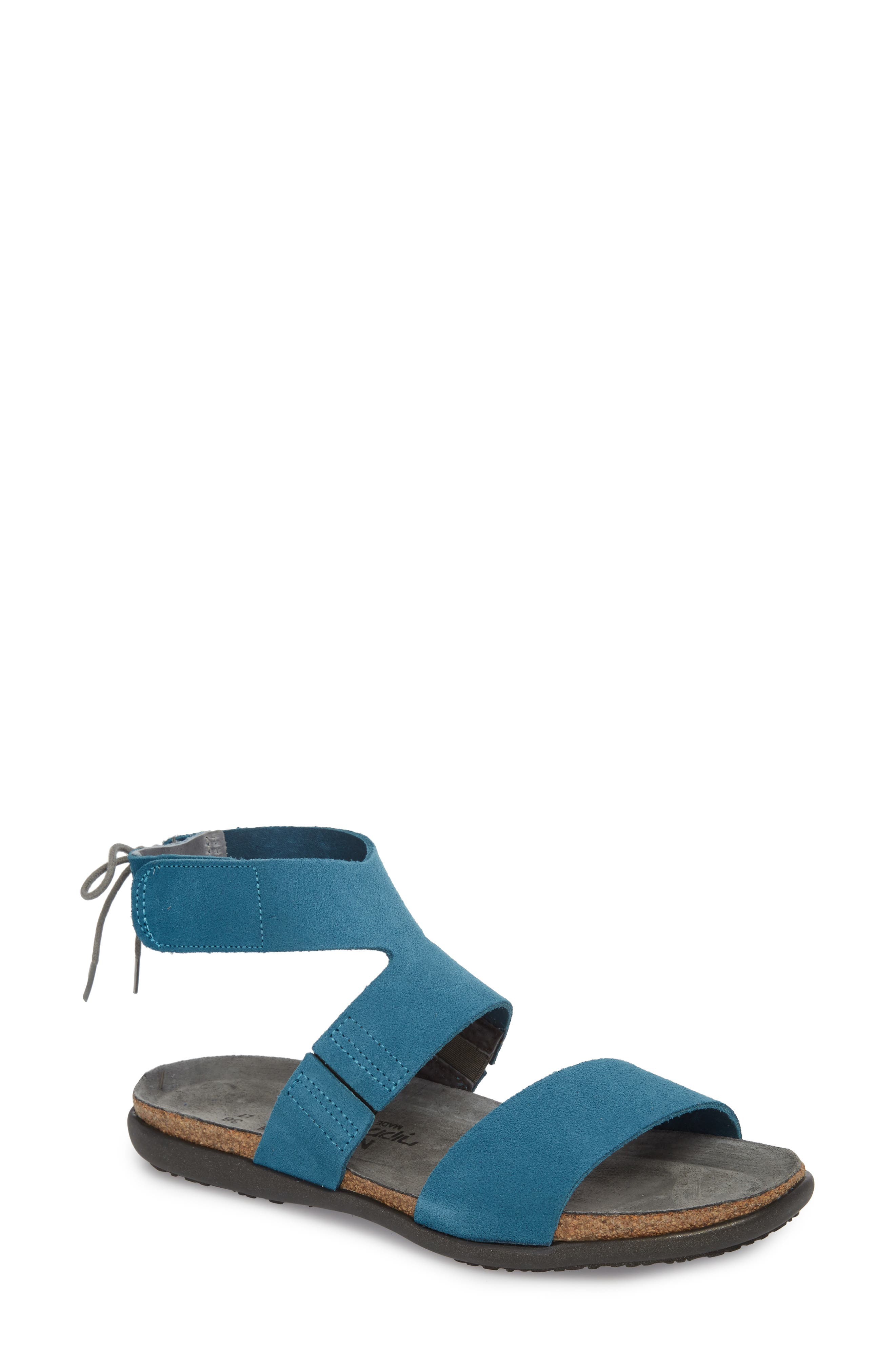 Larissa Ankle Strap Sandal,                             Main thumbnail 4, color,