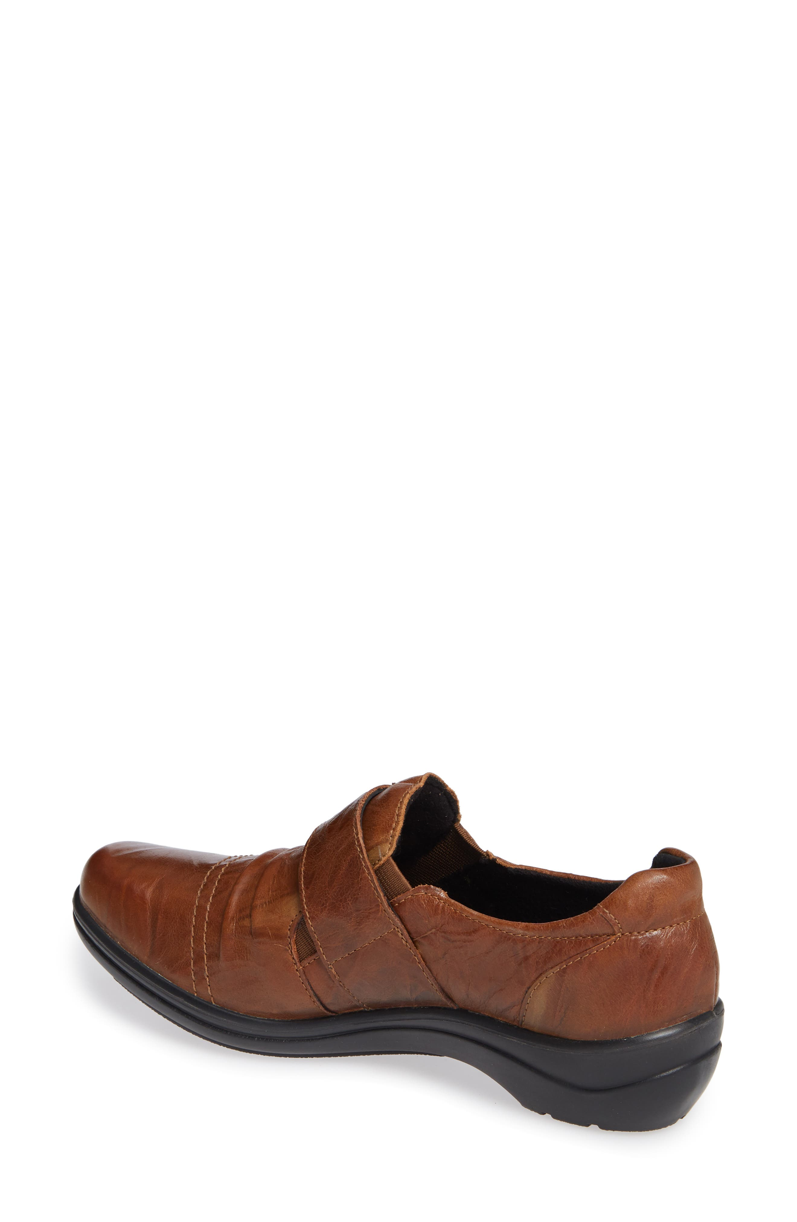 Cassie 43 Loafer,                             Alternate thumbnail 2, color,                             BROWN LEATHER