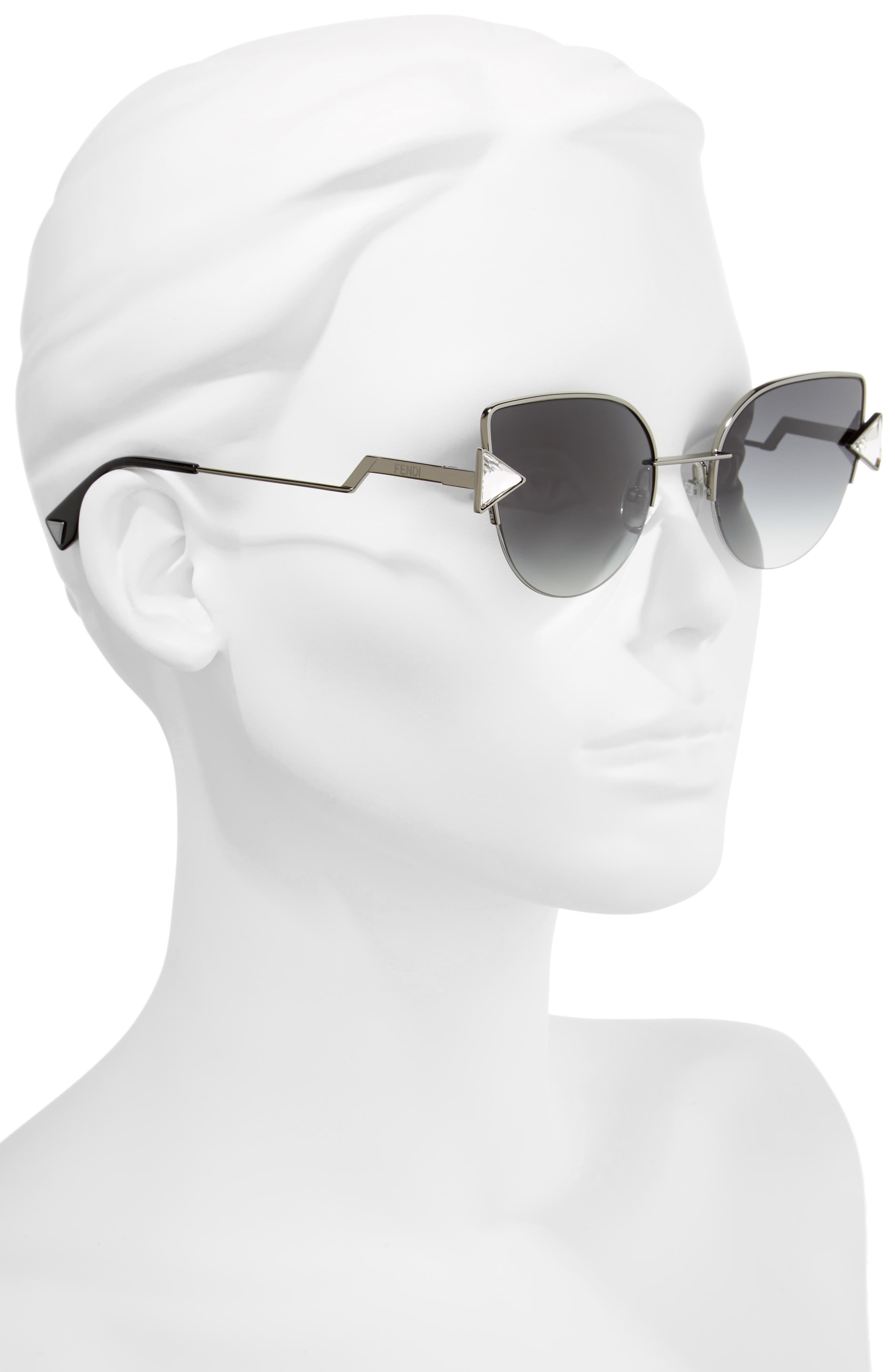 Rainbow 52mm Semi-Rimless Sunglasses,                             Alternate thumbnail 2, color,                             040