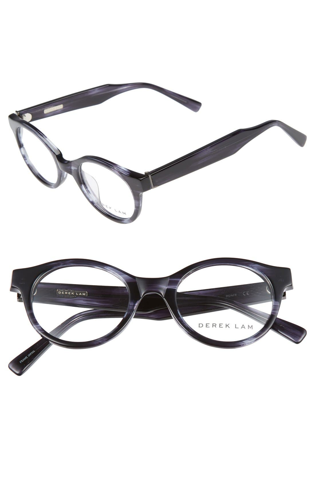 45mm Optical Glasses,                             Main thumbnail 1, color,                             MIDNIGHT FEATHER
