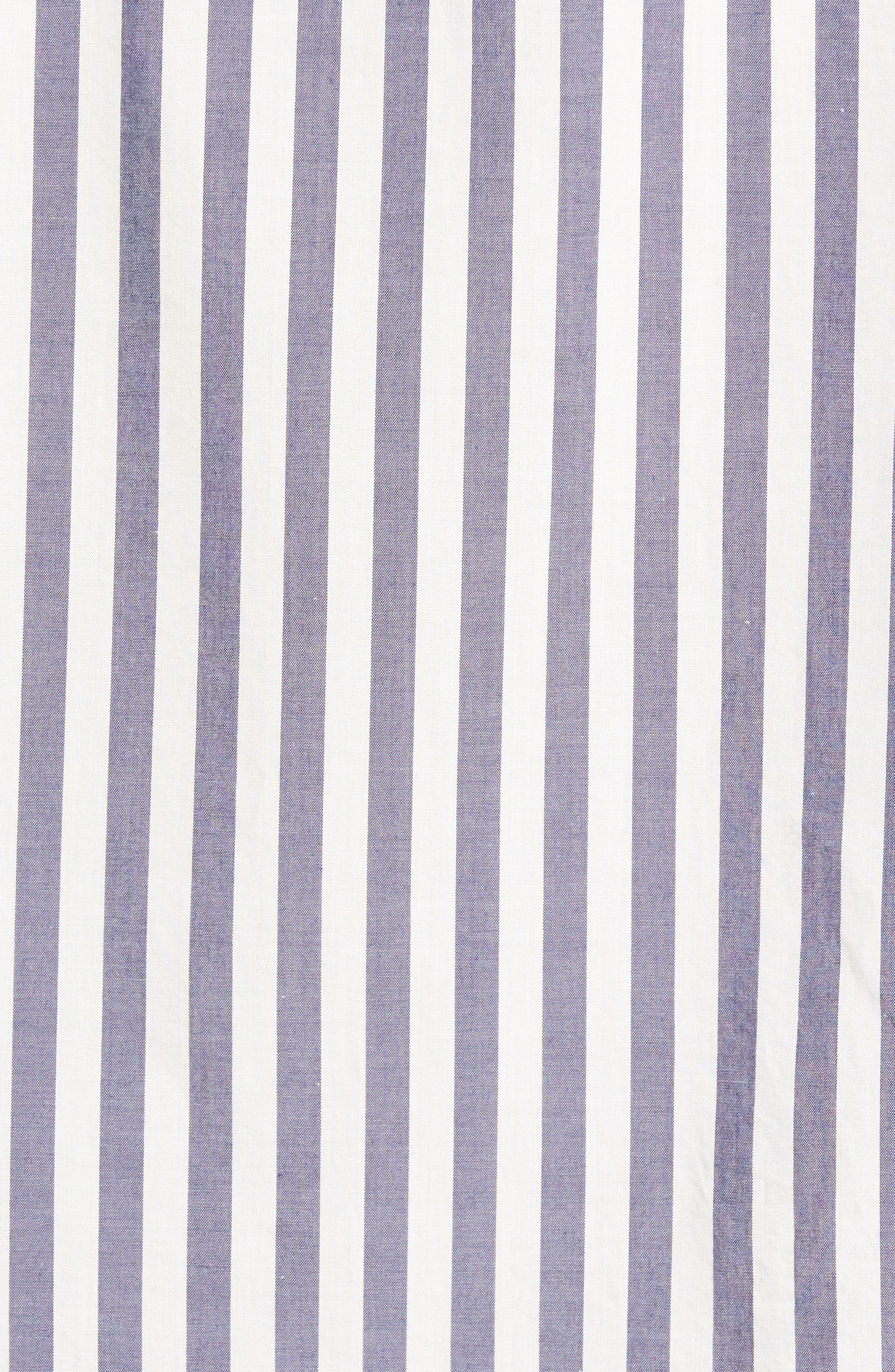 Slim Fit Summerweight Stripe Sport Shirt,                             Alternate thumbnail 5, color,                             400