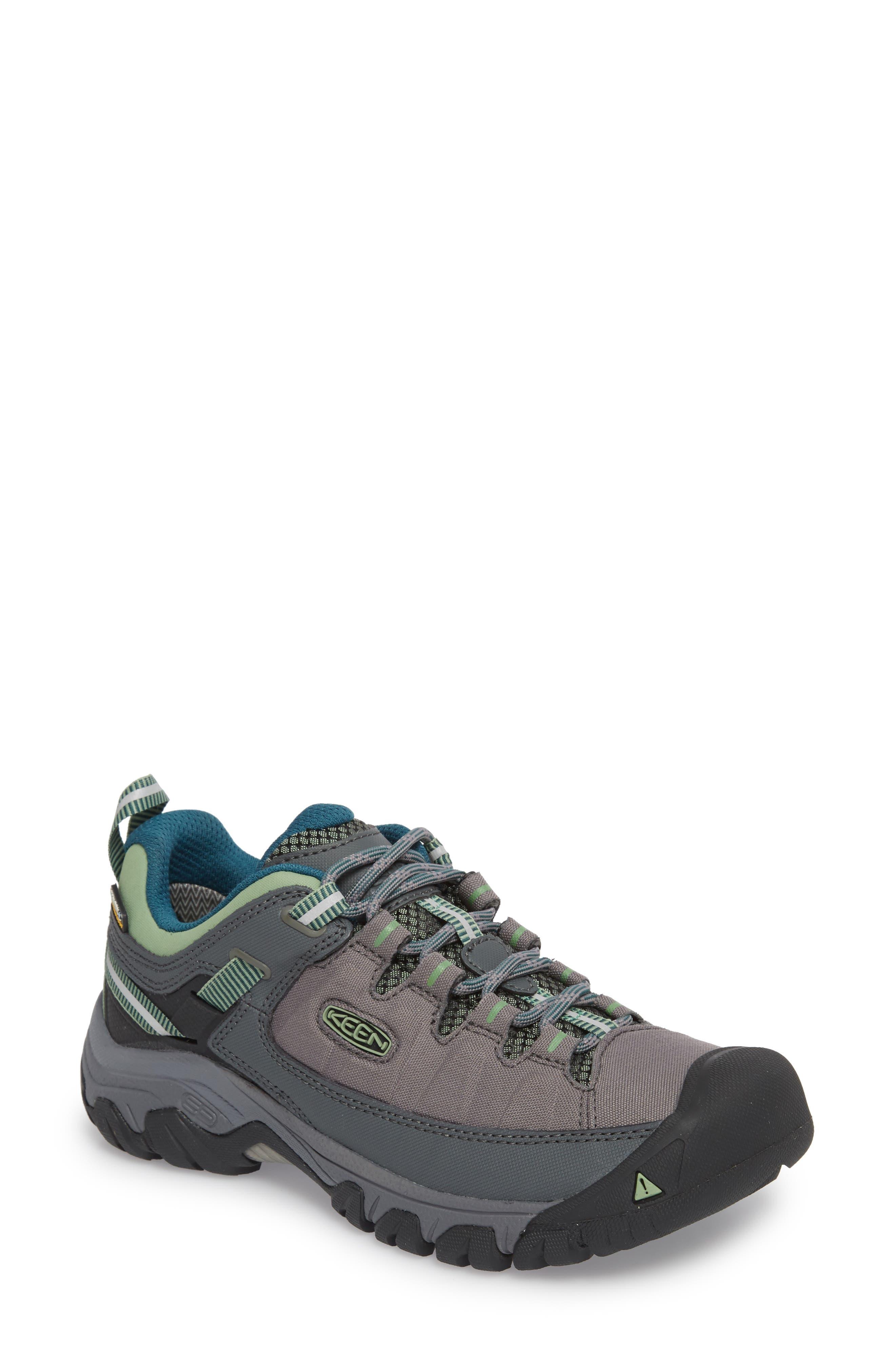 Targhee EXP Waterproof Hiking Shoe,                         Main,                         color, STEEL GREY/ BASIL
