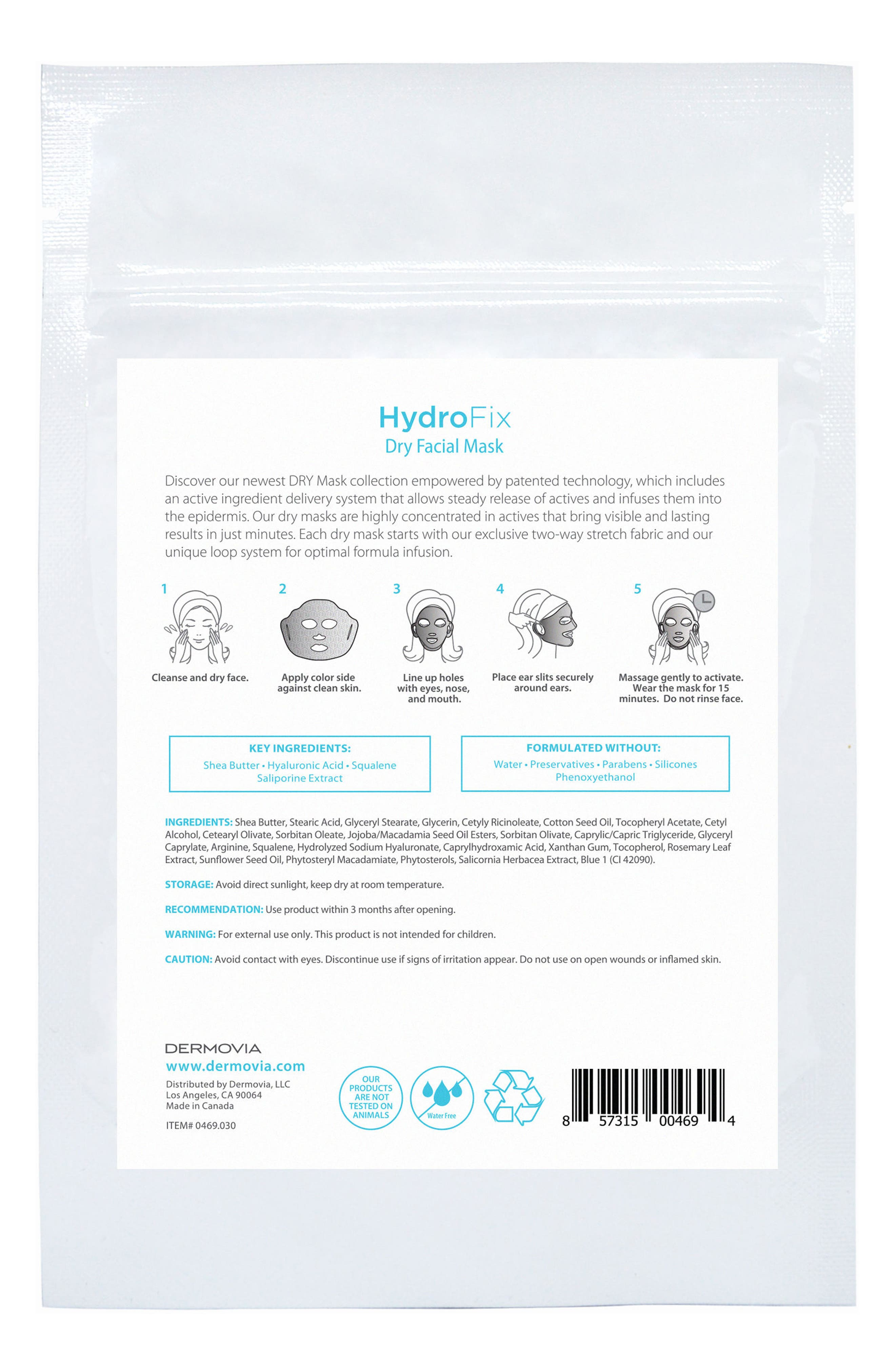 DRY Mask HydroFix Waterless Facial Mask,                             Alternate thumbnail 3, color,                             NO COLOR