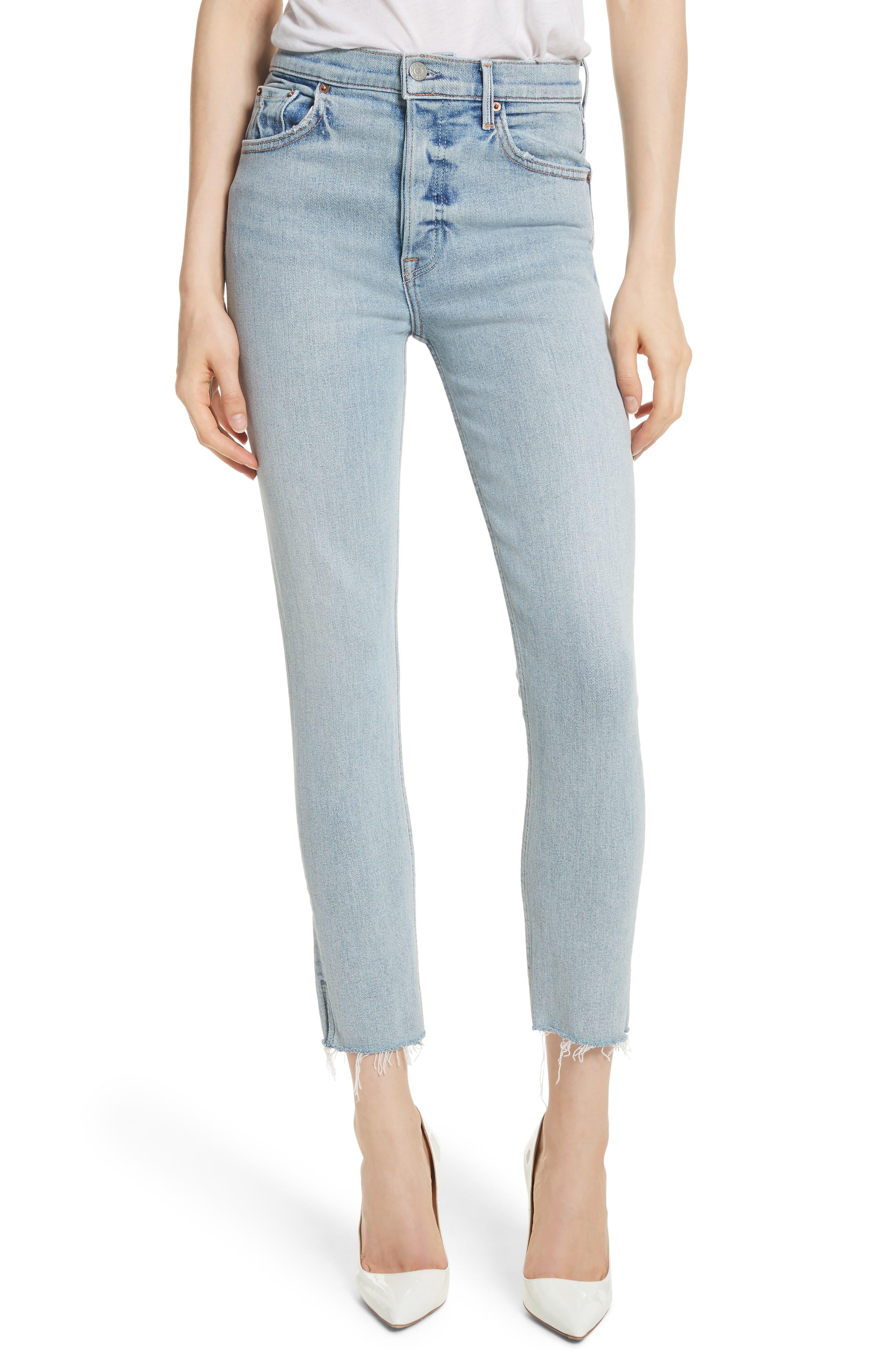 Karolina High Waist Skinny Jeans,                         Main,                         color, TITANIUM