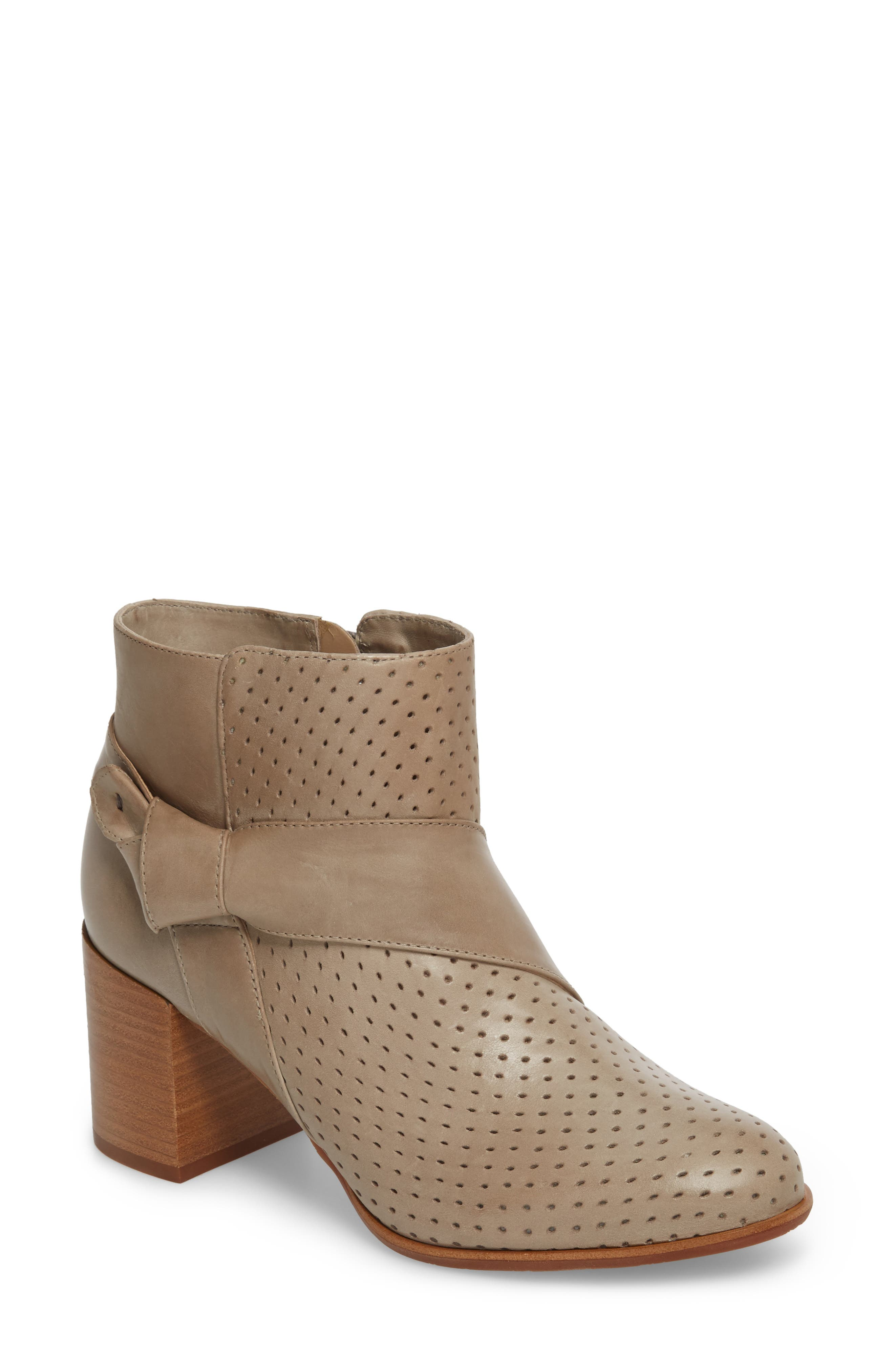 Felice Bootie,                             Main thumbnail 1, color,                             GREY LEATHER