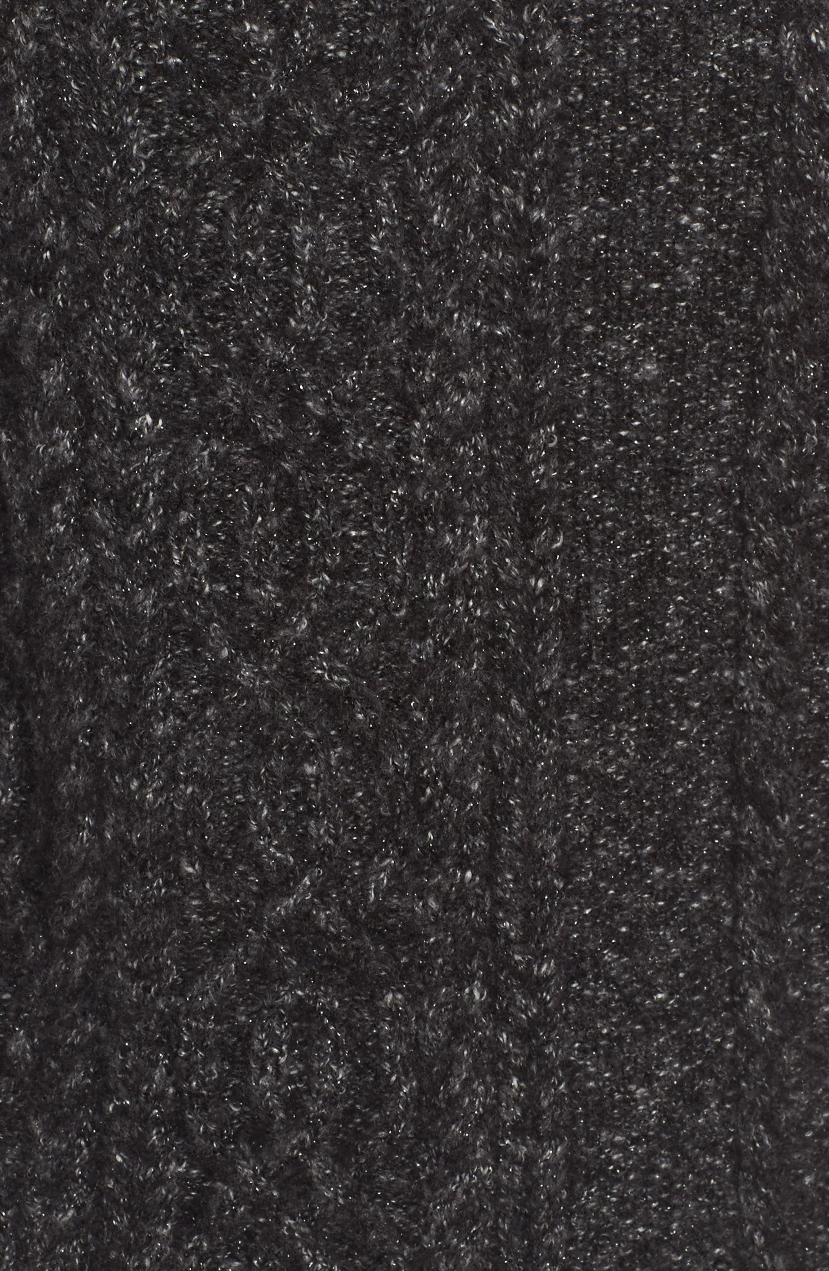 Mock Neck Cable Knit Sweater,                             Alternate thumbnail 5, color,                             030