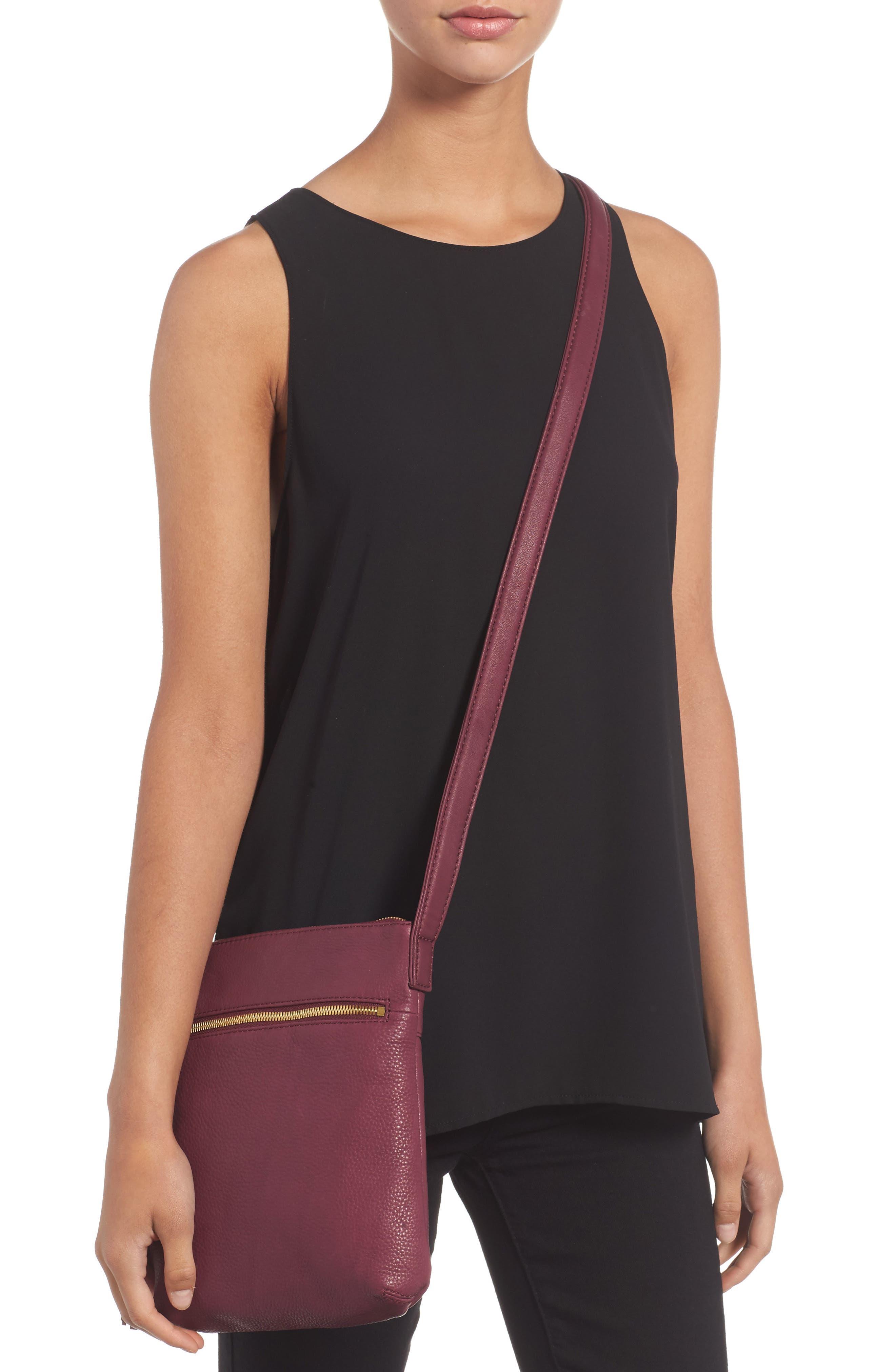 'Sarah' Leather Crossbody Bag,                             Alternate thumbnail 12, color,