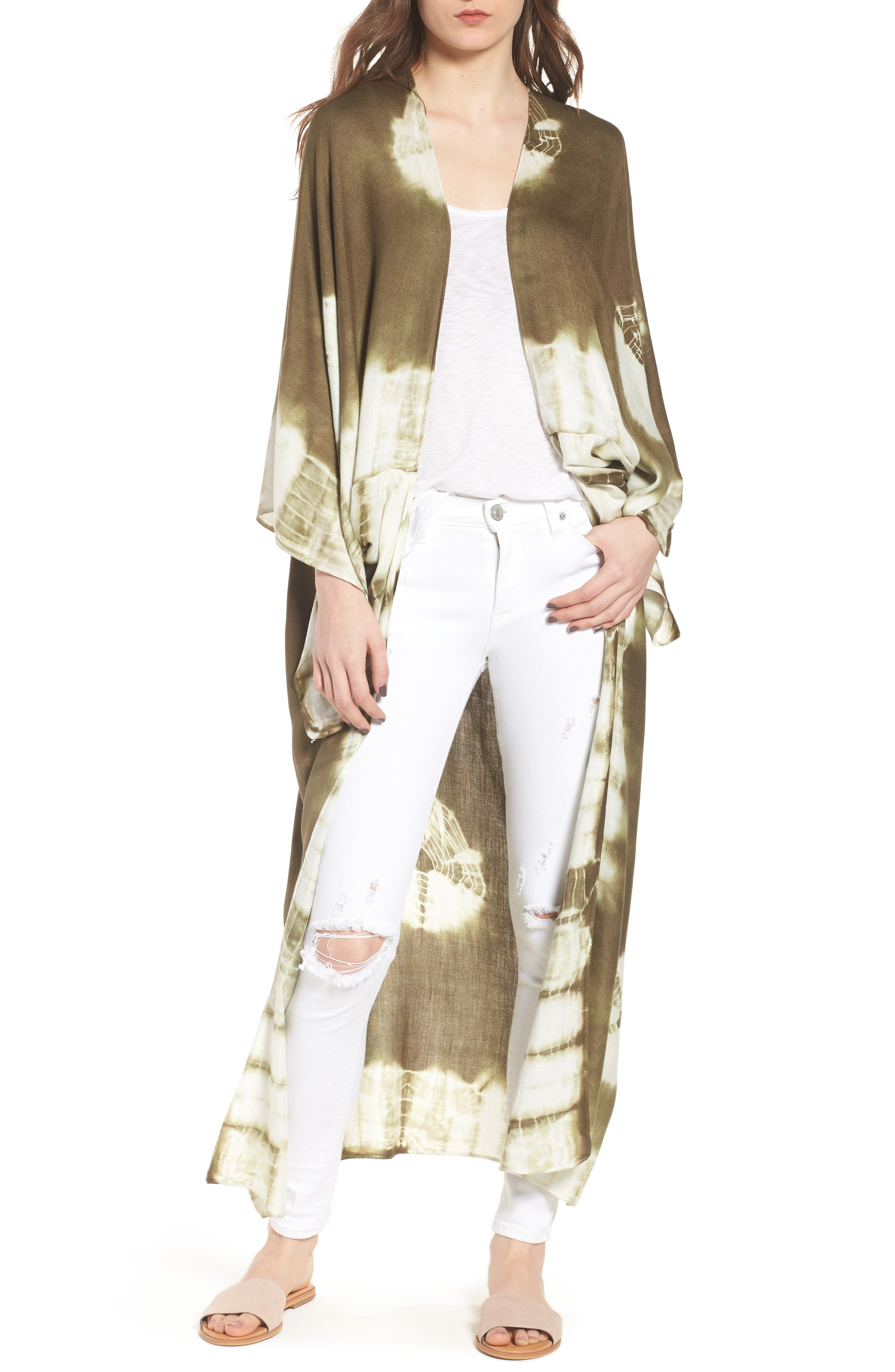 Spellbound Tie Dye Kimono Duster,                             Main thumbnail 2, color,
