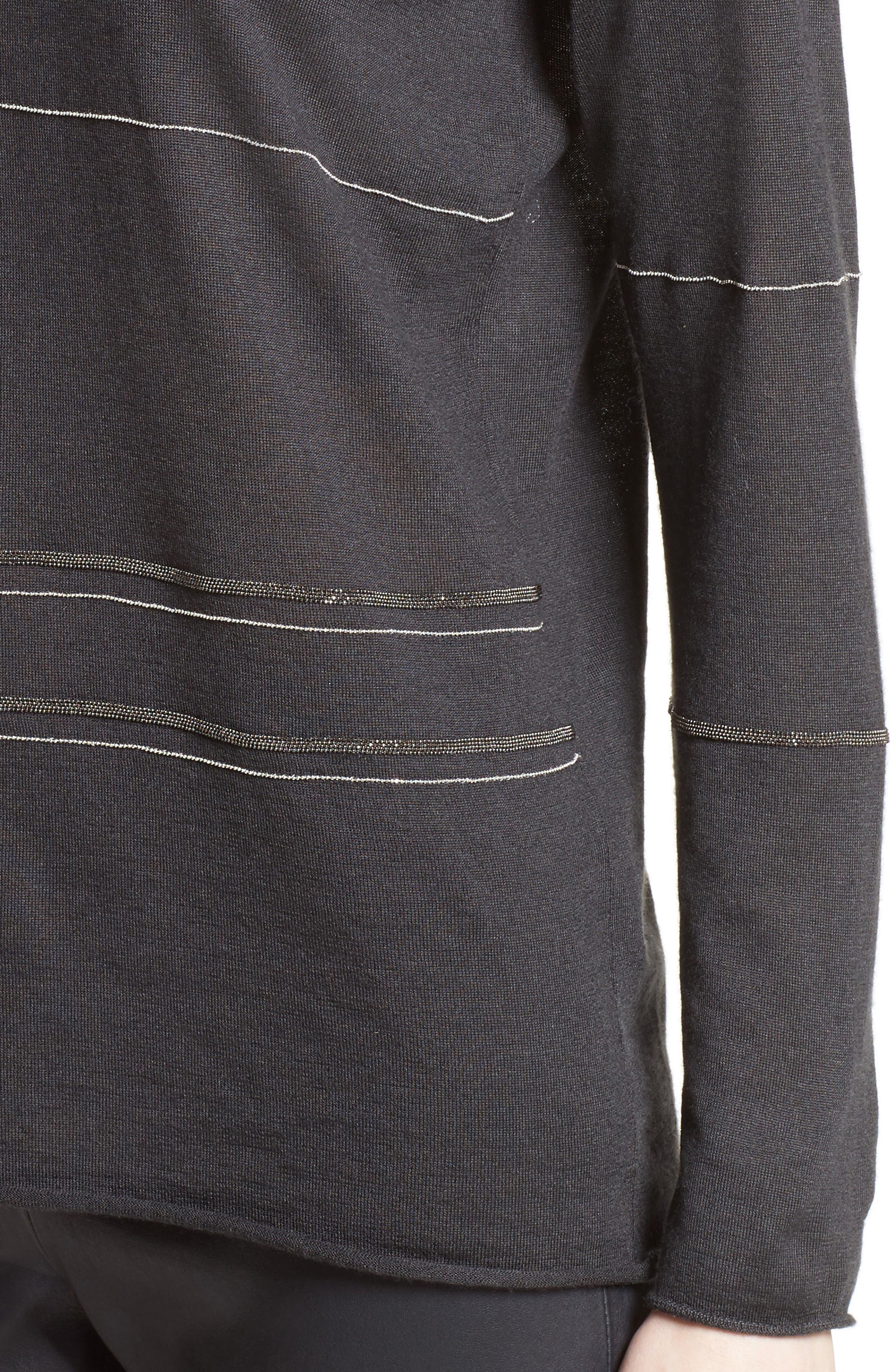 Cashmere & Silk Turtleneck Sweater,                             Alternate thumbnail 4, color,                             021