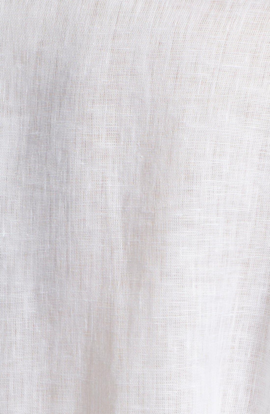 ARMANI COLLEZIONI,                             Linen Tuxedo Shirt,                             Alternate thumbnail 3, color,                             100