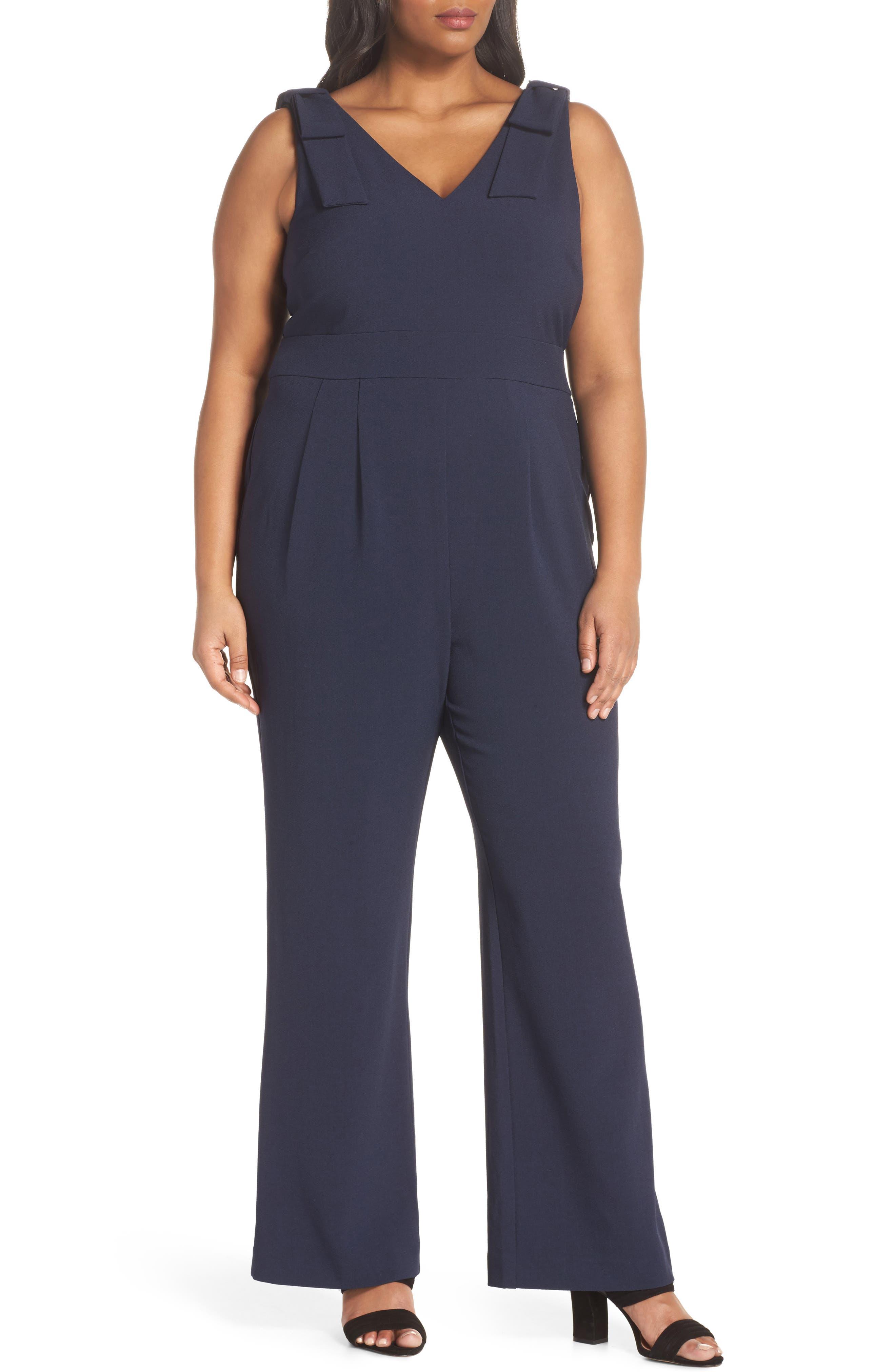 Bow Shoulder Jumpsuit,                         Main,                         color, 410