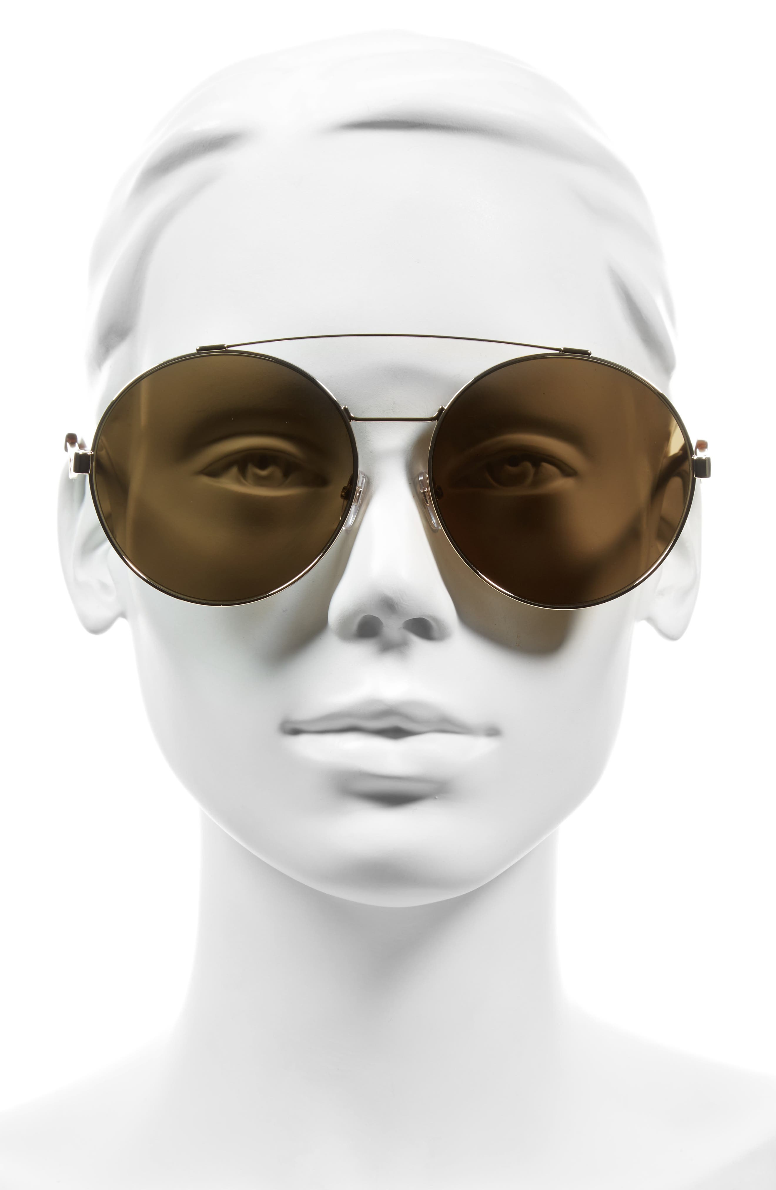 62mm Round Sunglasses,                             Alternate thumbnail 2, color,                             GOLD