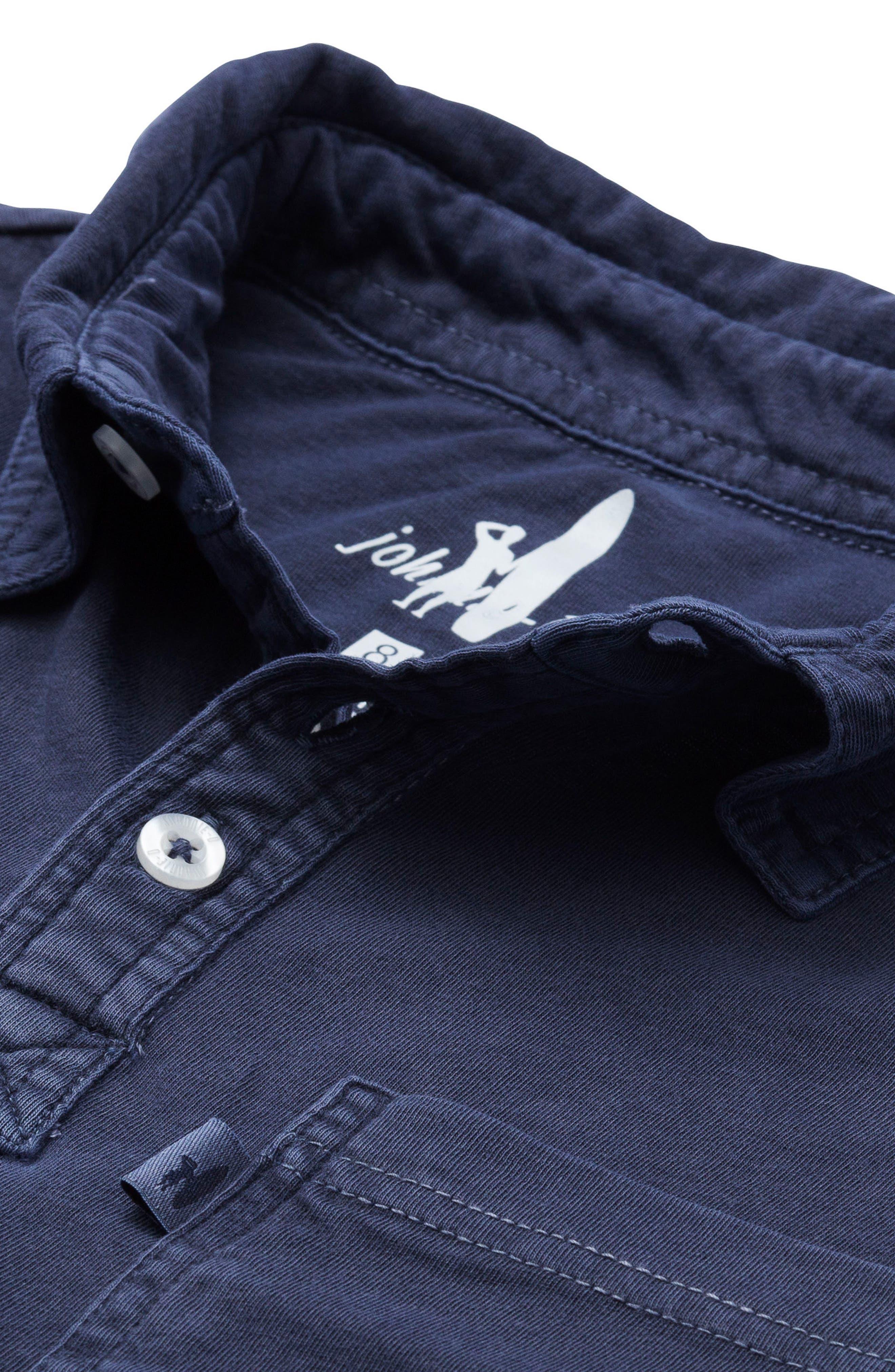 Carbon Long Sleeve Pocket Polo,                             Alternate thumbnail 2, color,                             400