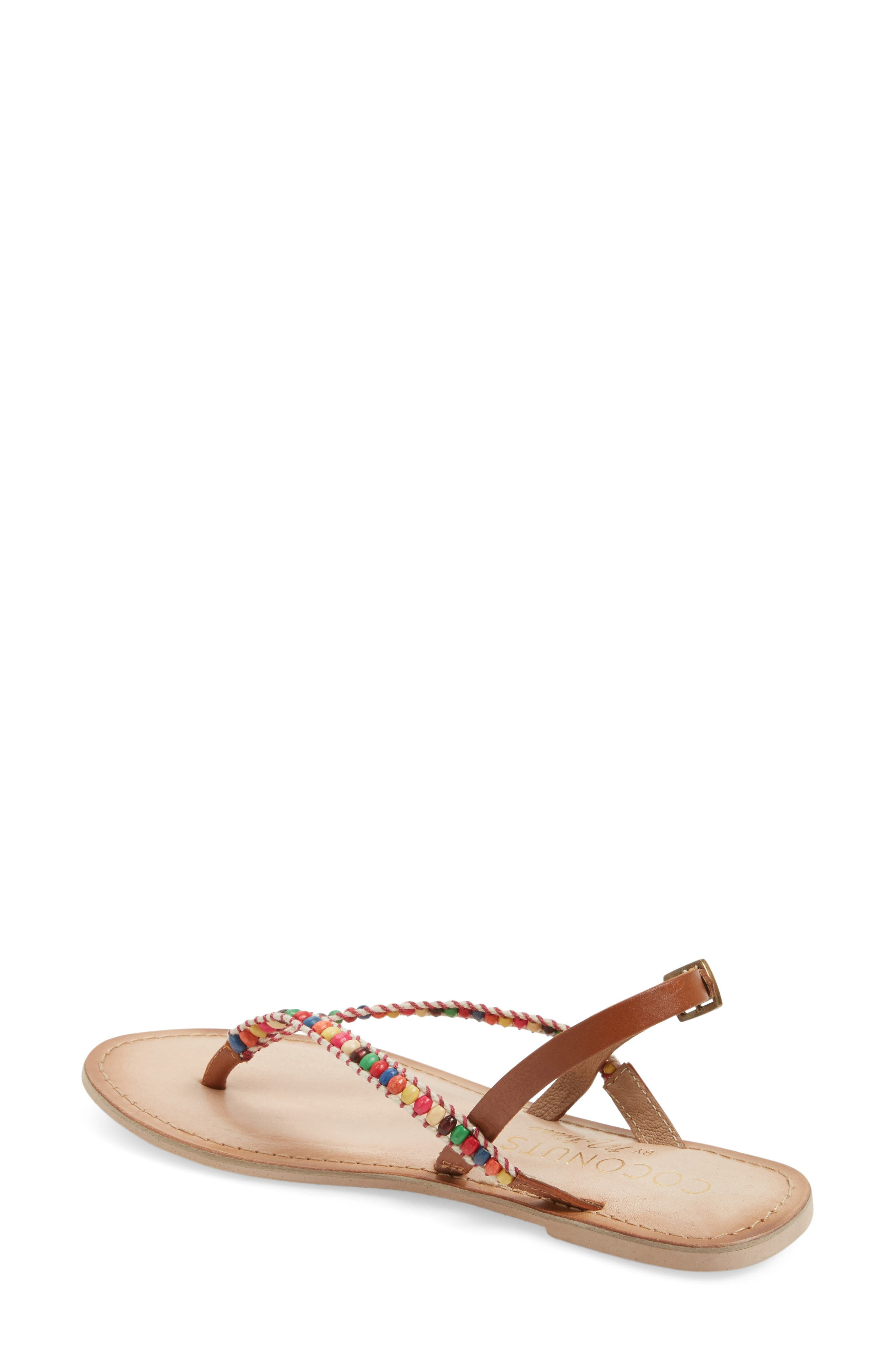 Coconuts by Matisse Celebration Beaded Sandal,                             Alternate thumbnail 4, color,