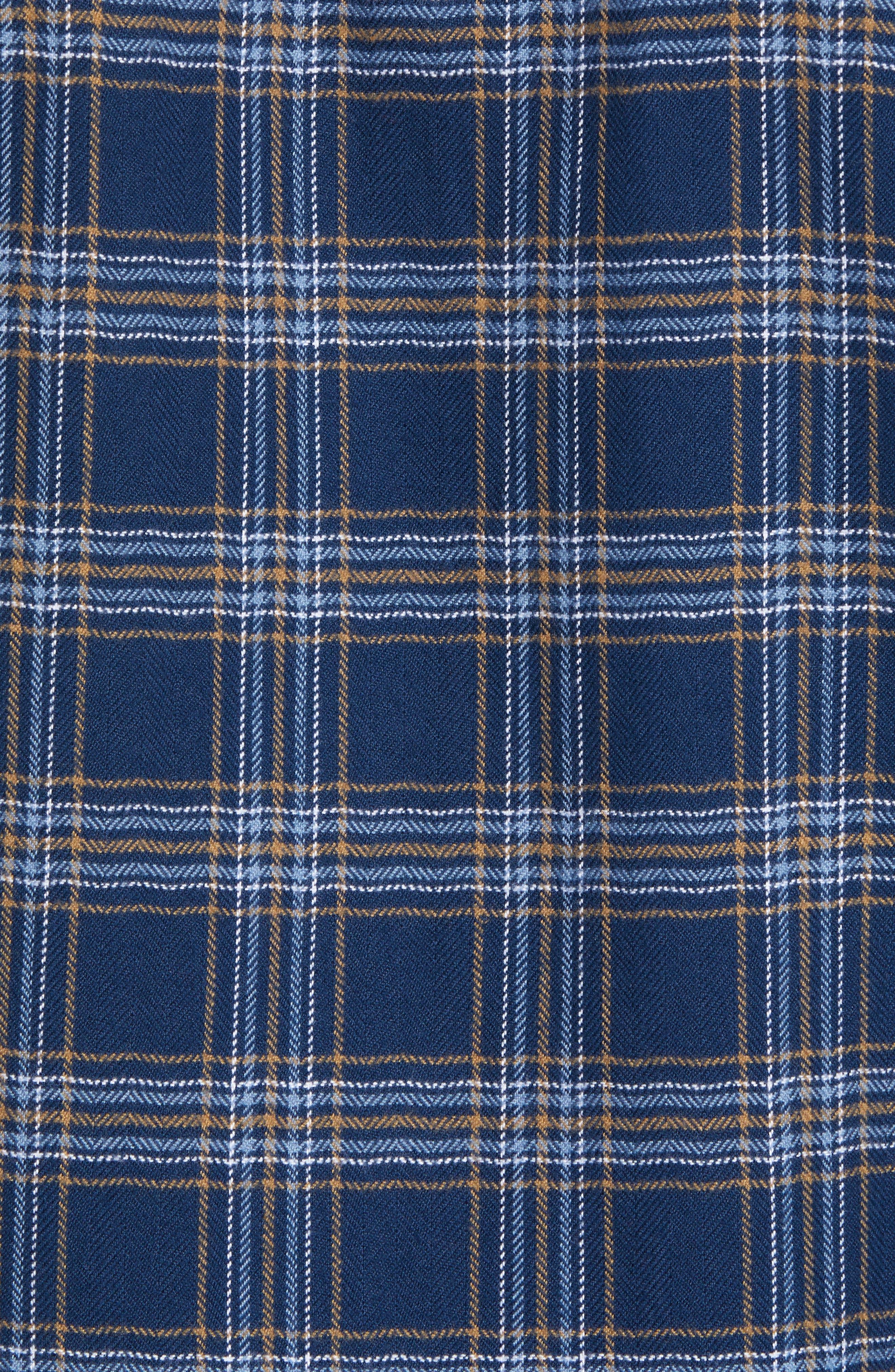Redmond Flannel Shirt,                             Alternate thumbnail 5, color,                             NAVY