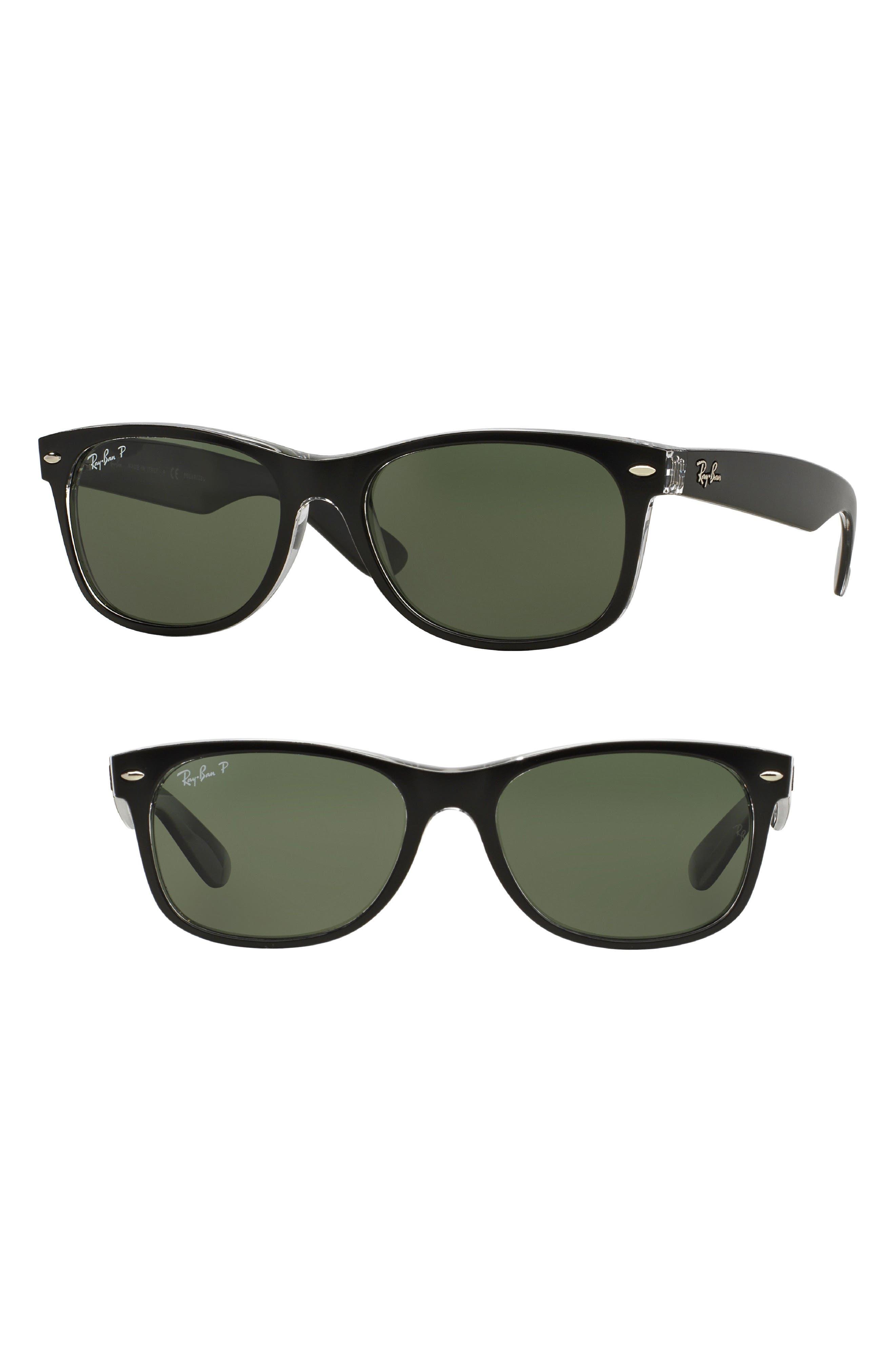 Standard New Wayfarer 55mm Polarized Sunglasses,                             Main thumbnail 1, color,                             010
