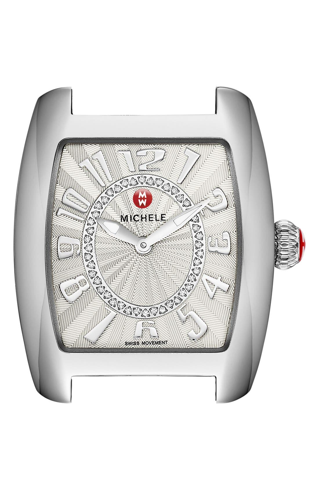Urban Mini Diamond Dial Watch Case, 29mm x 30mm,                             Alternate thumbnail 5, color,                             SILVER/ SILVER