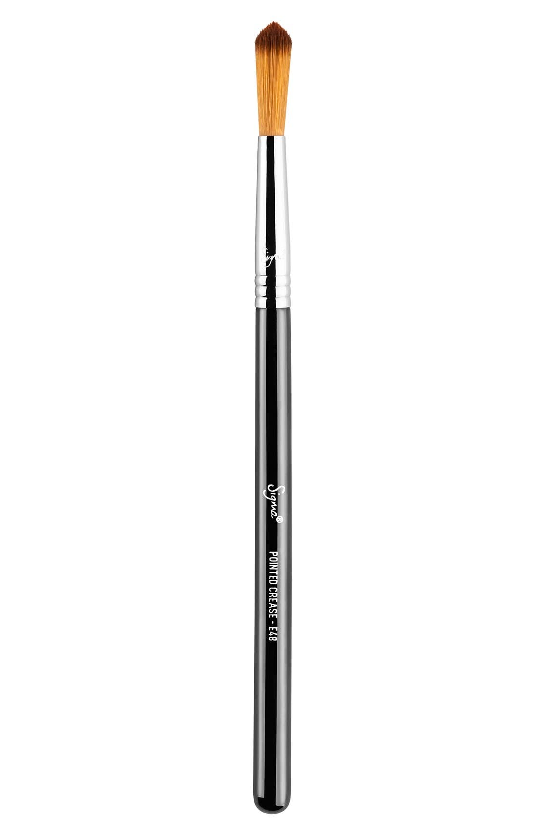 E48 Pointed Crease<sup>™</sup> Brush,                         Main,                         color, NO COLOR