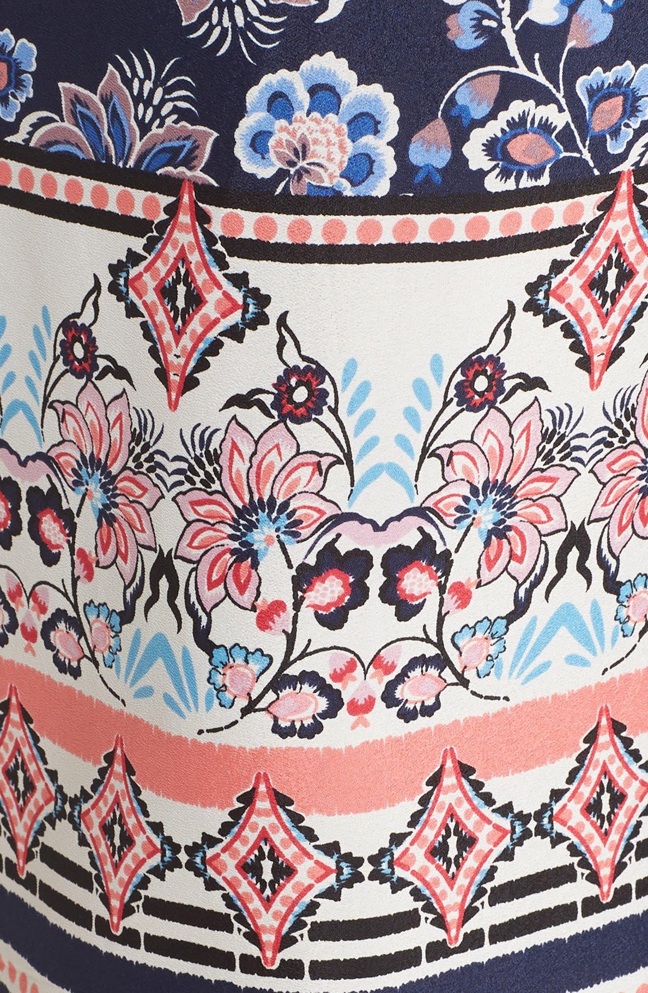 Off the Shoulder Tie Waist Maxi Dress,                             Alternate thumbnail 6, color,                             470