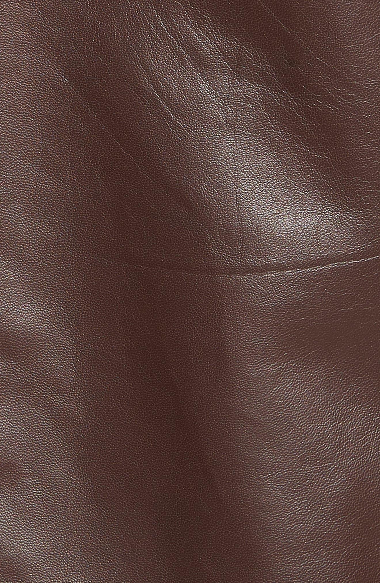 GOLDEN BEAR,                             The Bartlett Leather Jacket,                             Alternate thumbnail 7, color,                             DARK BROWN