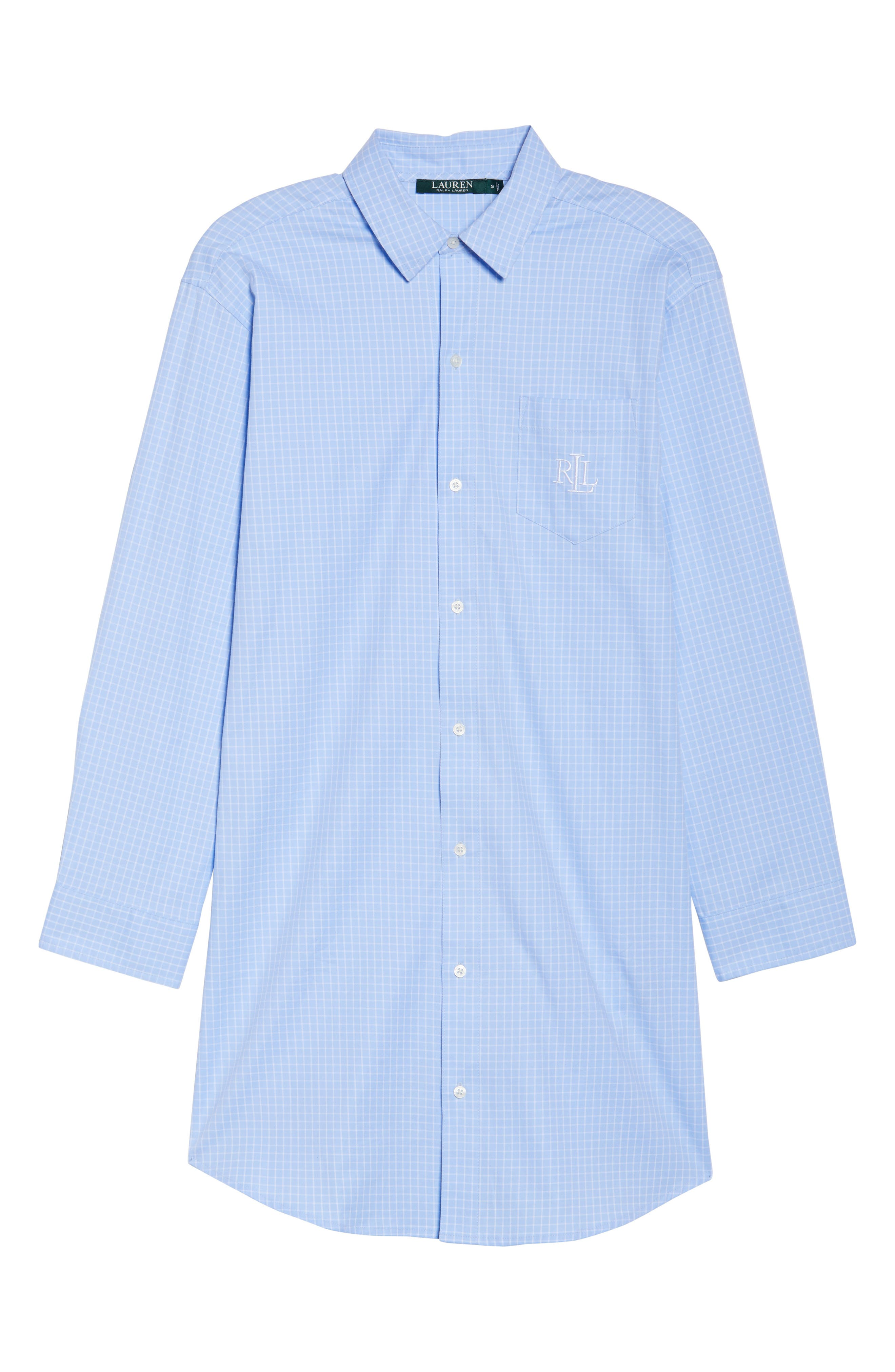 Stretch Cotton Sleep Shirt,                             Alternate thumbnail 6, color,                             494