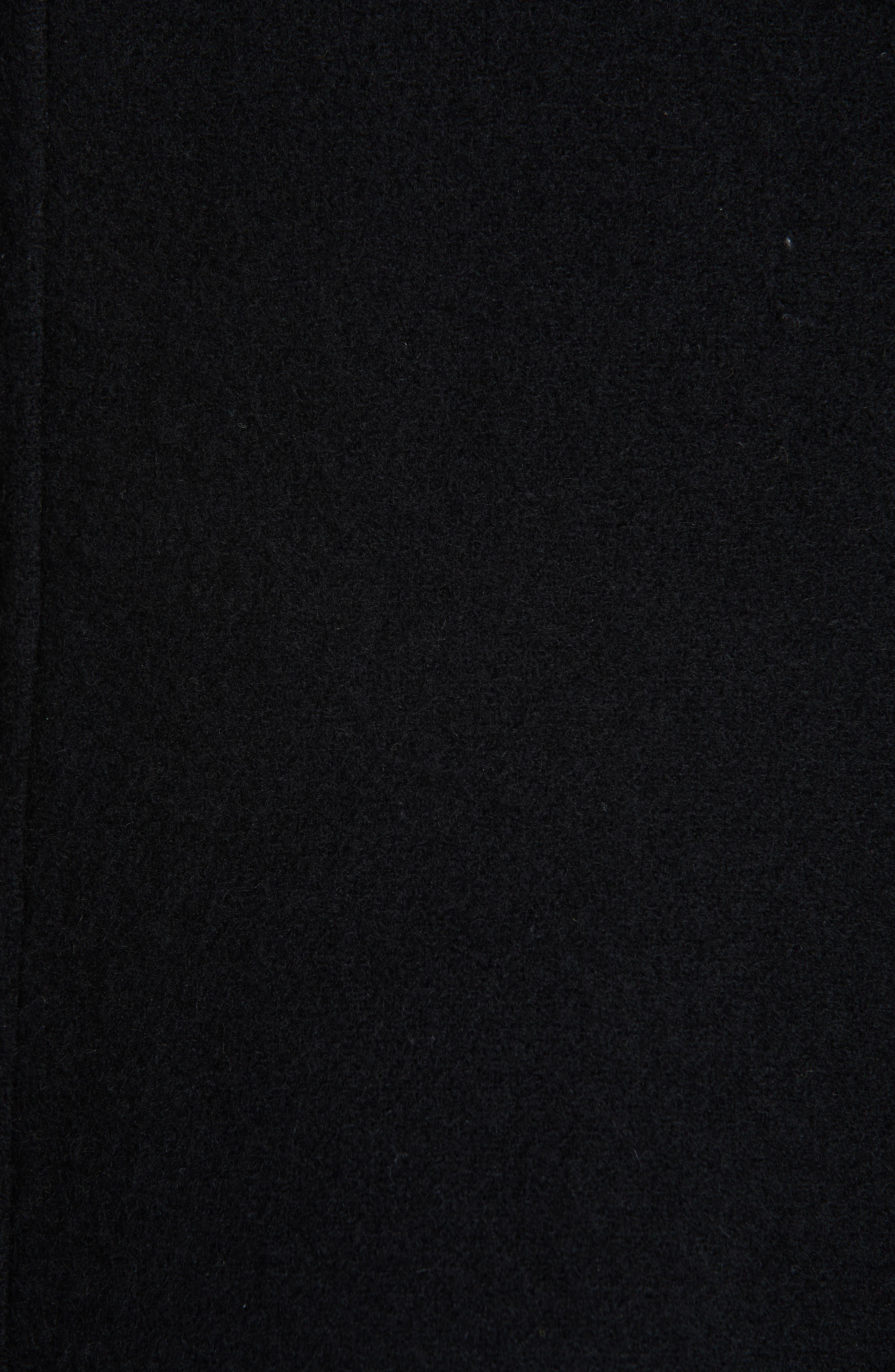 Studded Wool Blend Coat,                             Alternate thumbnail 6, color,                             BLACK
