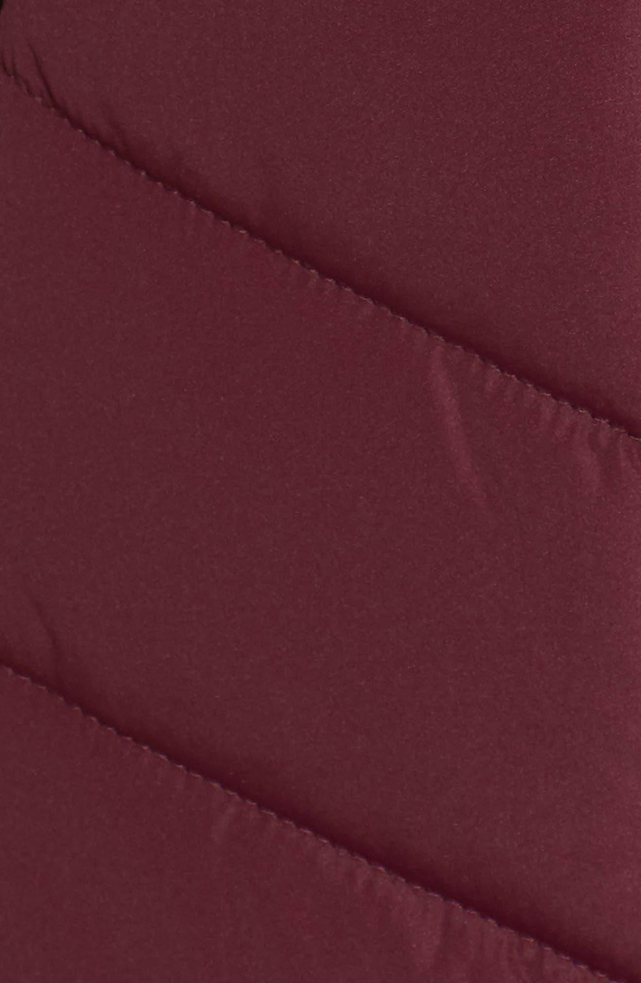 Faux Fur Trim Hooded Puffer Jacket,                             Alternate thumbnail 6, color,                             930