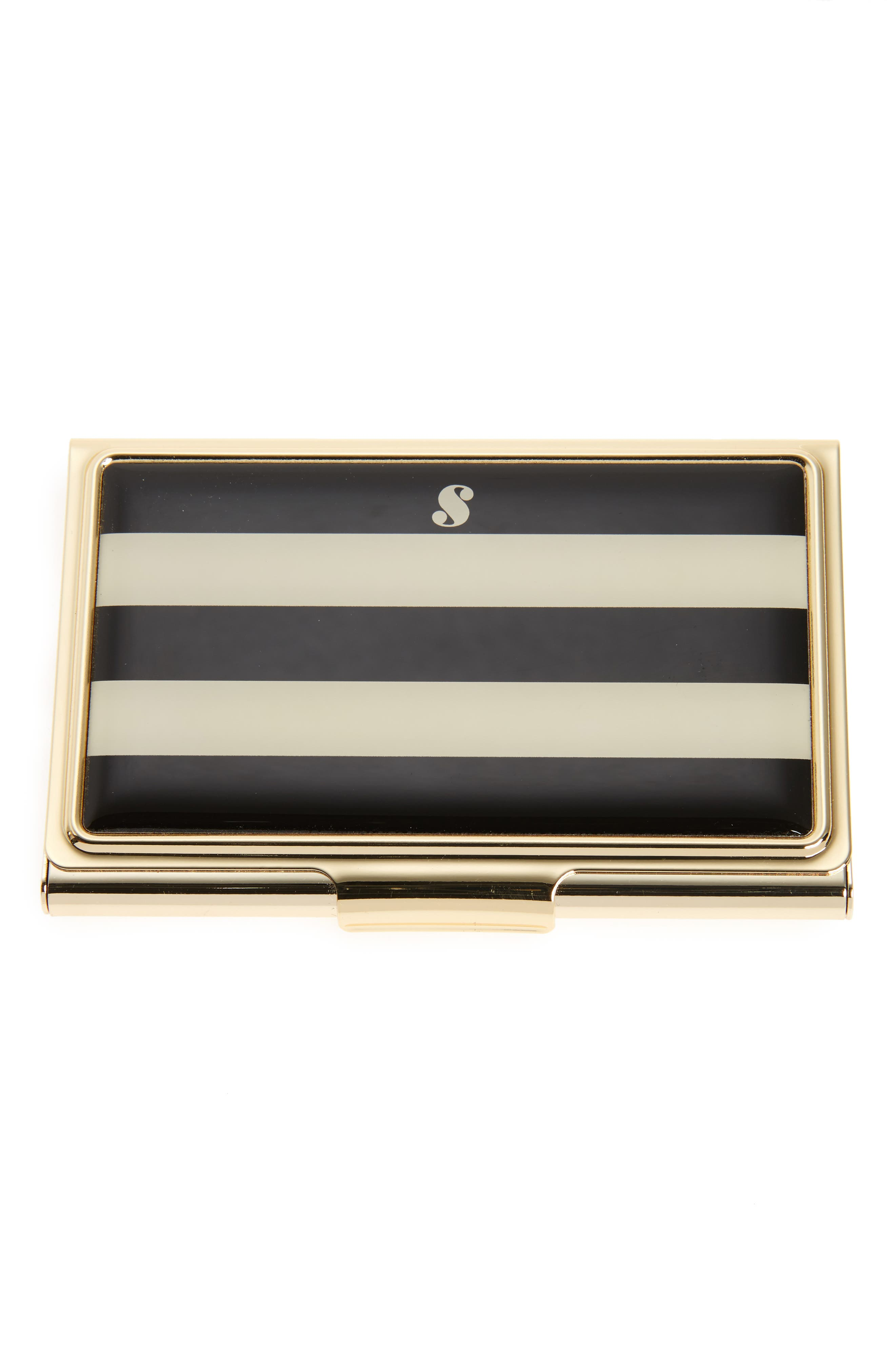 down to business initial card holder,                             Main thumbnail 12, color,