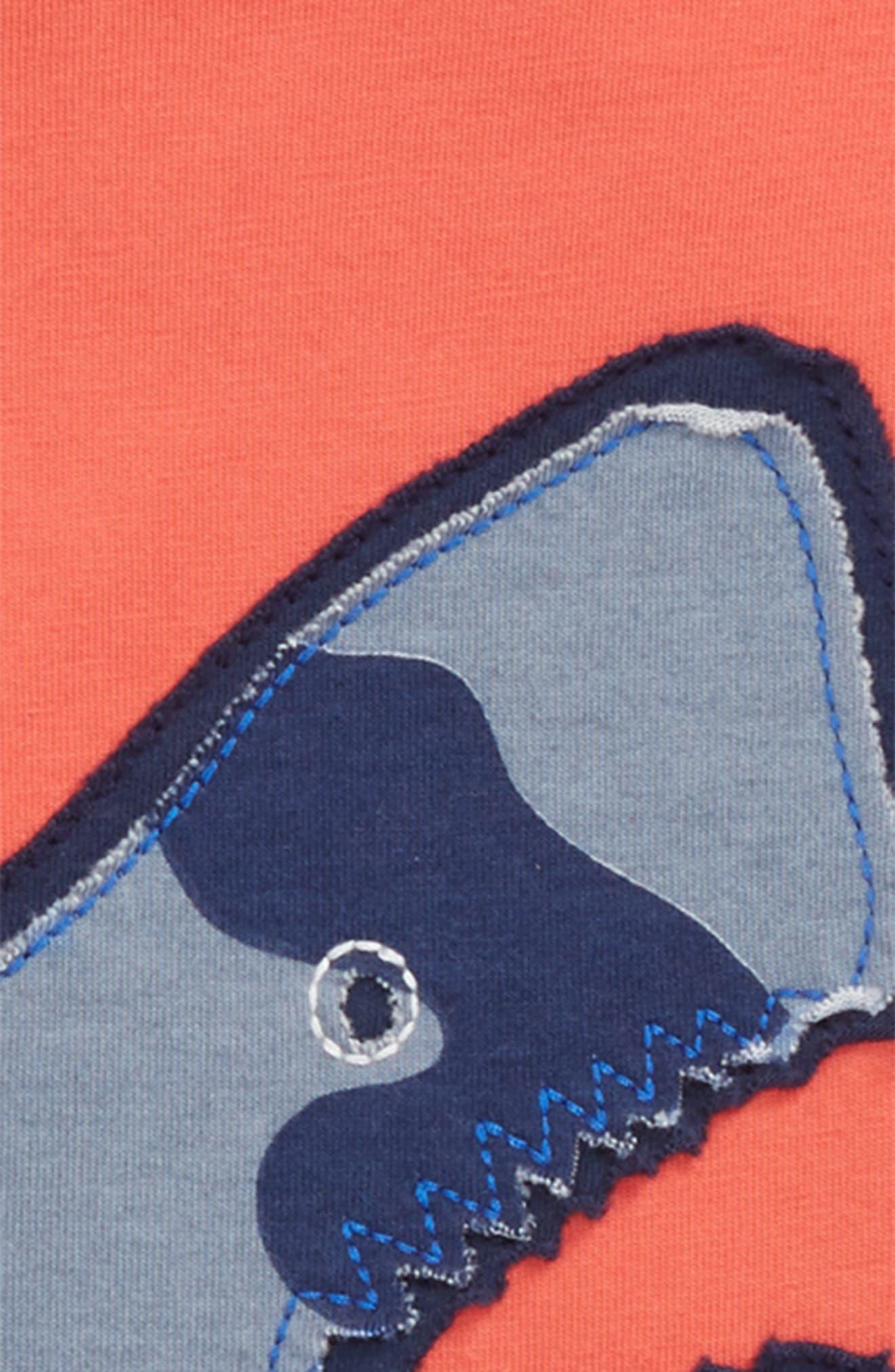 Patchwork Shark Appliqué T-Shirt,                             Alternate thumbnail 2, color,