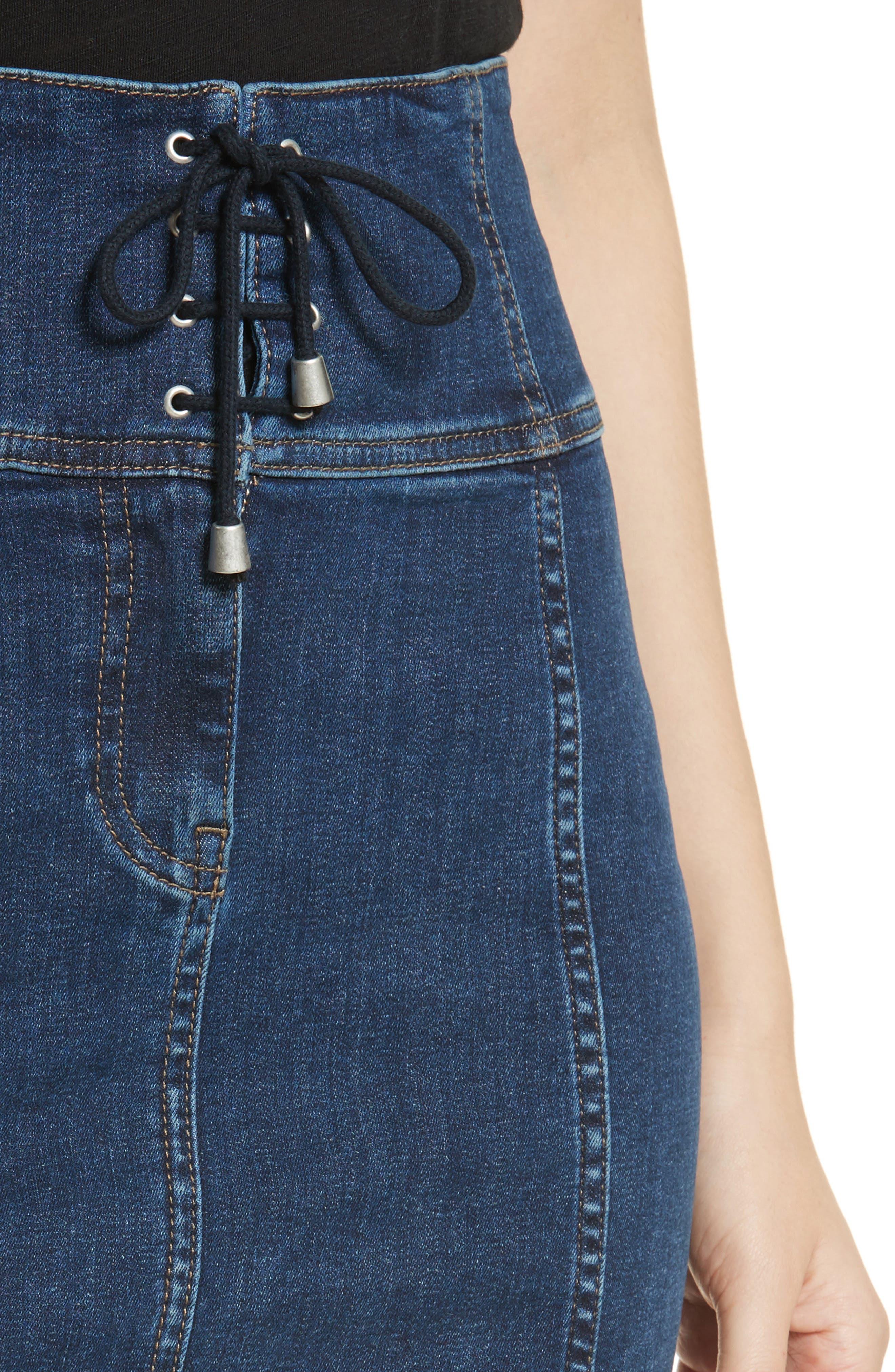 Modern Femme Corset Skirt,                             Alternate thumbnail 4, color,