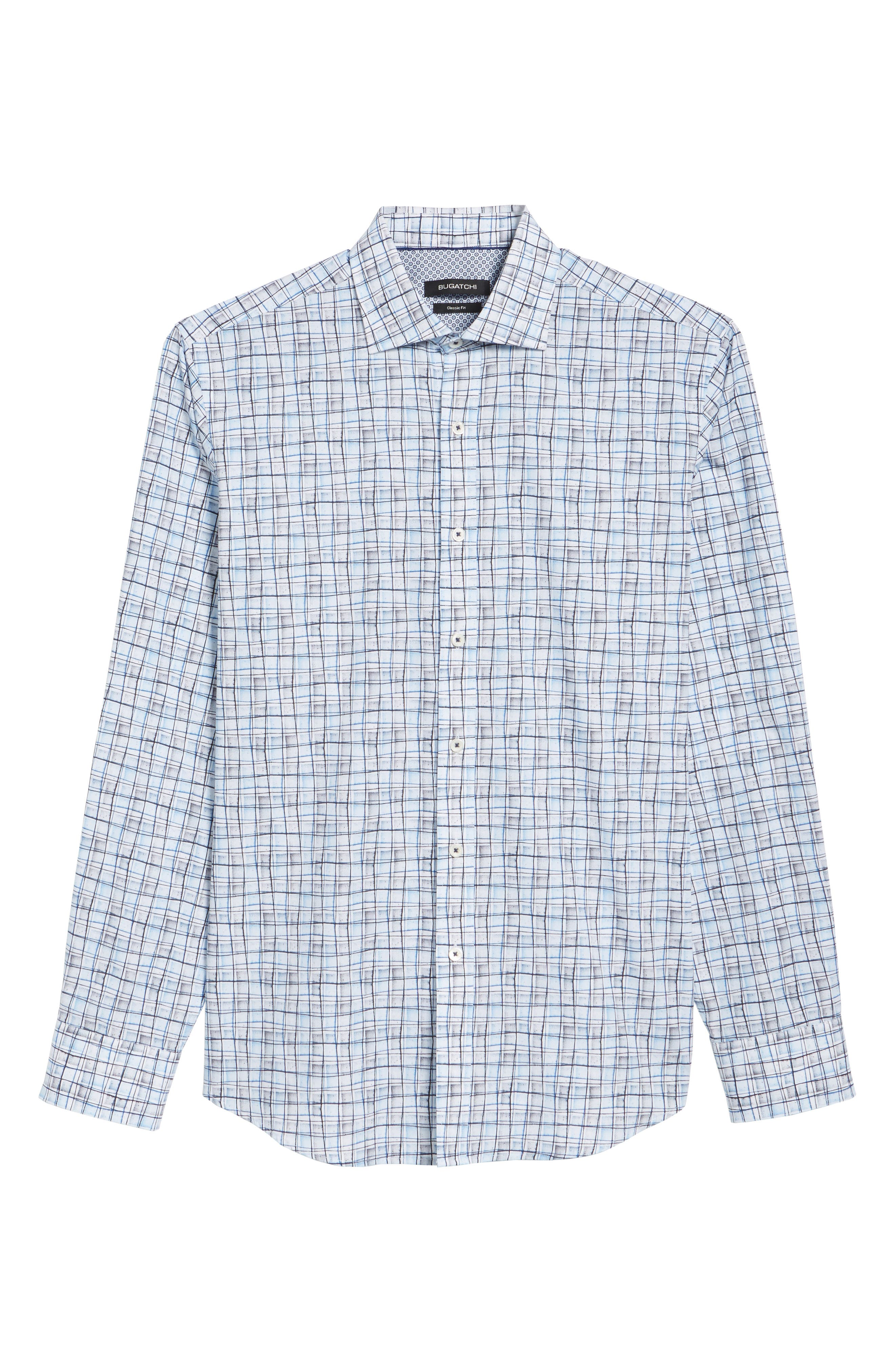 Regular Fit Grid Sport Shirt,                             Alternate thumbnail 6, color,                             040