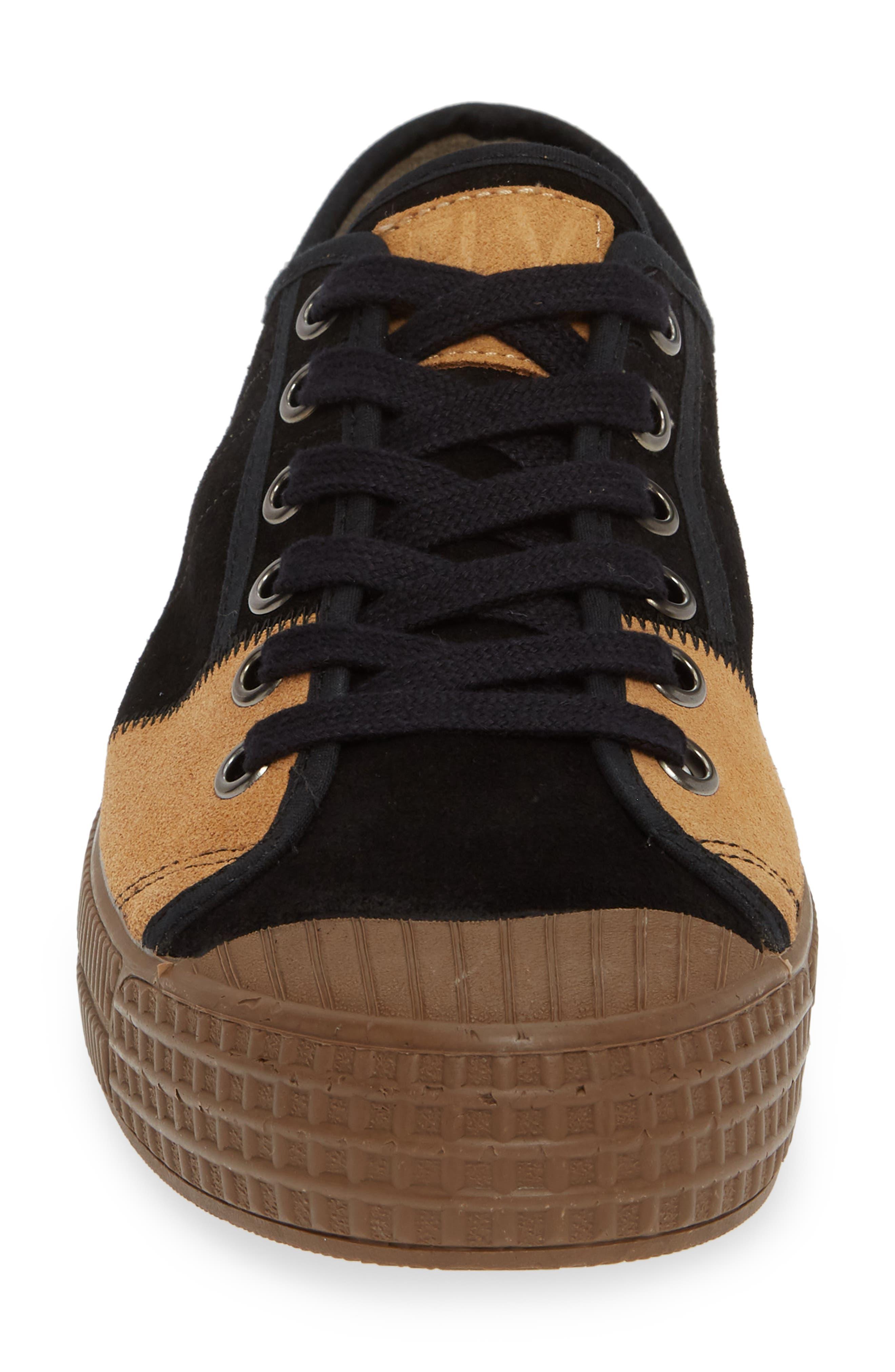 Foto Sneaker,                             Alternate thumbnail 4, color,                             BLACK/ CAMEL SUEDE
