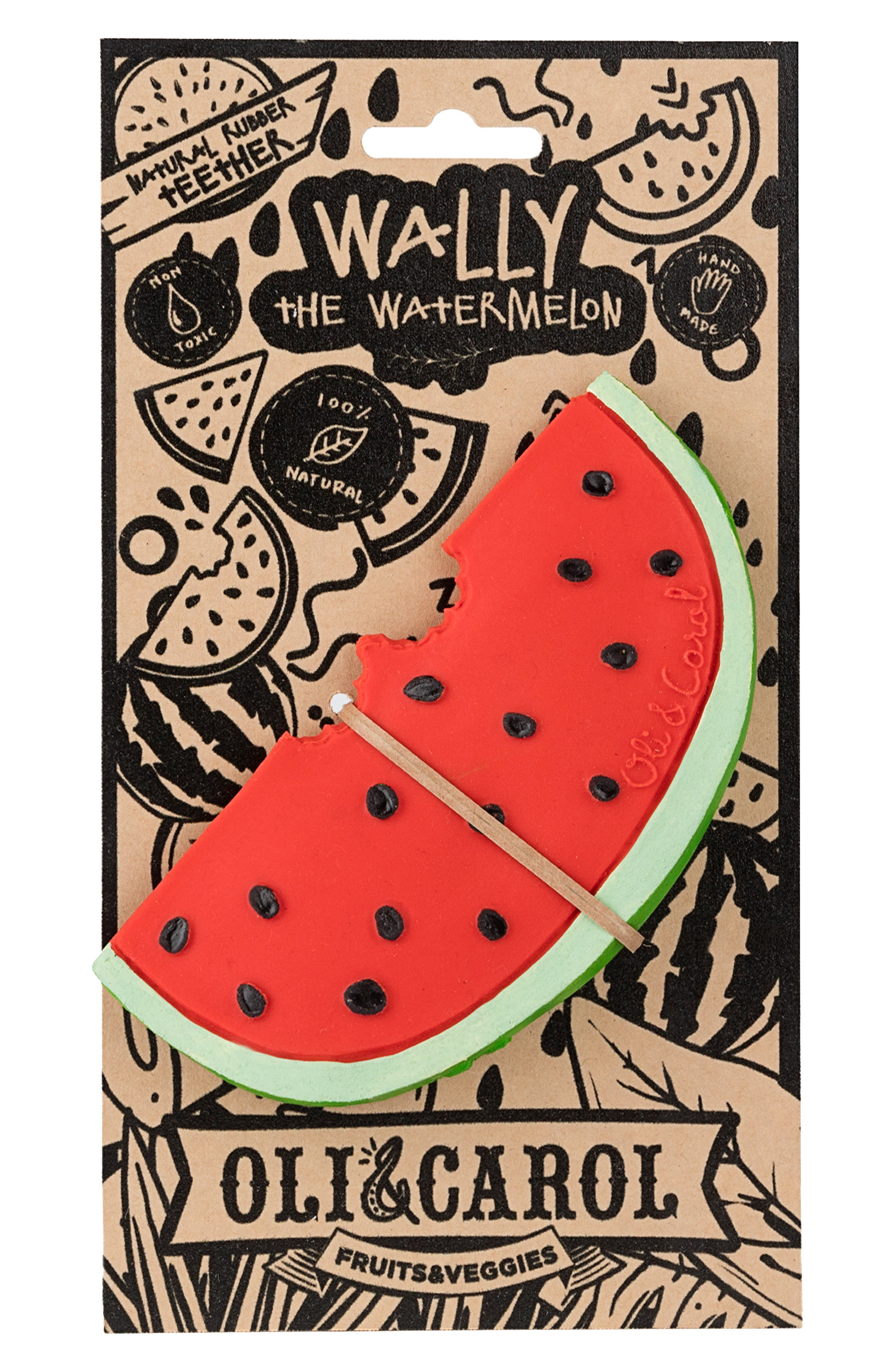 Oli and Carol Wally the Watermelon Teething Toy,                             Alternate thumbnail 4, color,                             RED