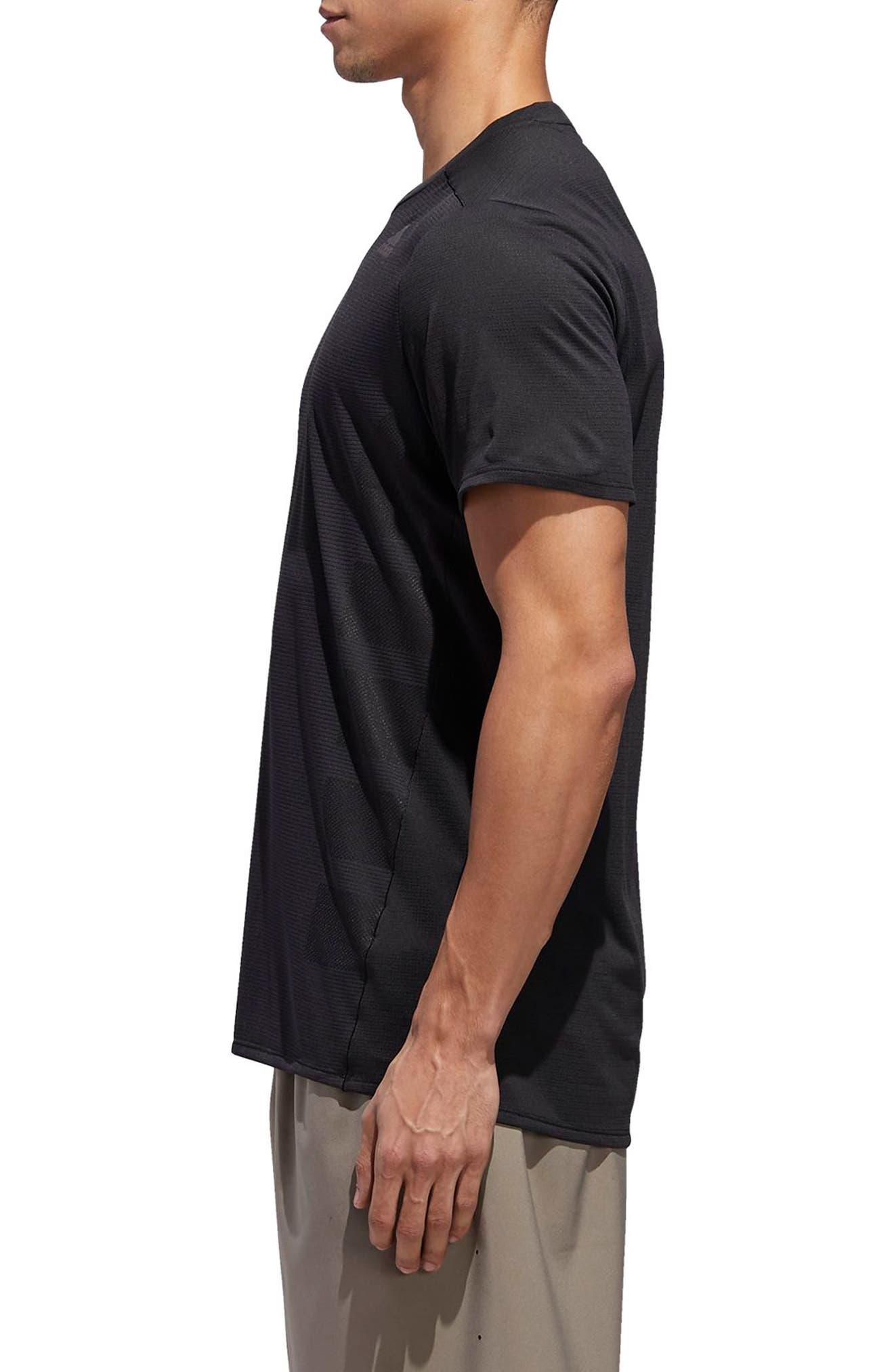 Supernova Regular Fit Short Sleeve Reflective Running T-Shirt,                             Alternate thumbnail 3, color,                             BLACK