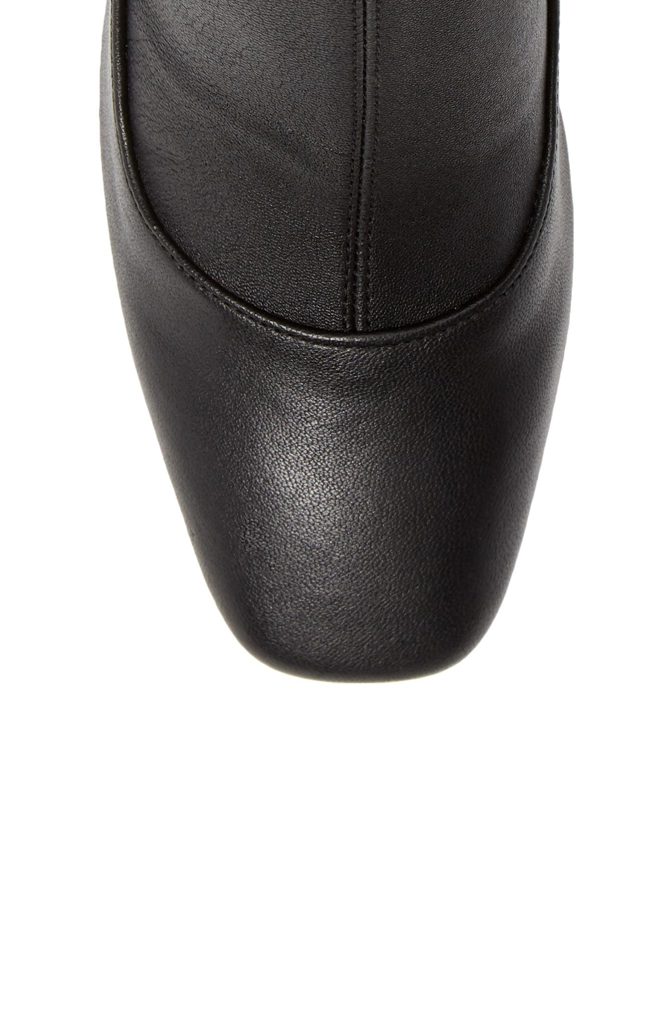 Gerrie Stretch Bootie,                             Alternate thumbnail 5, color,                             NAVY NAPPA