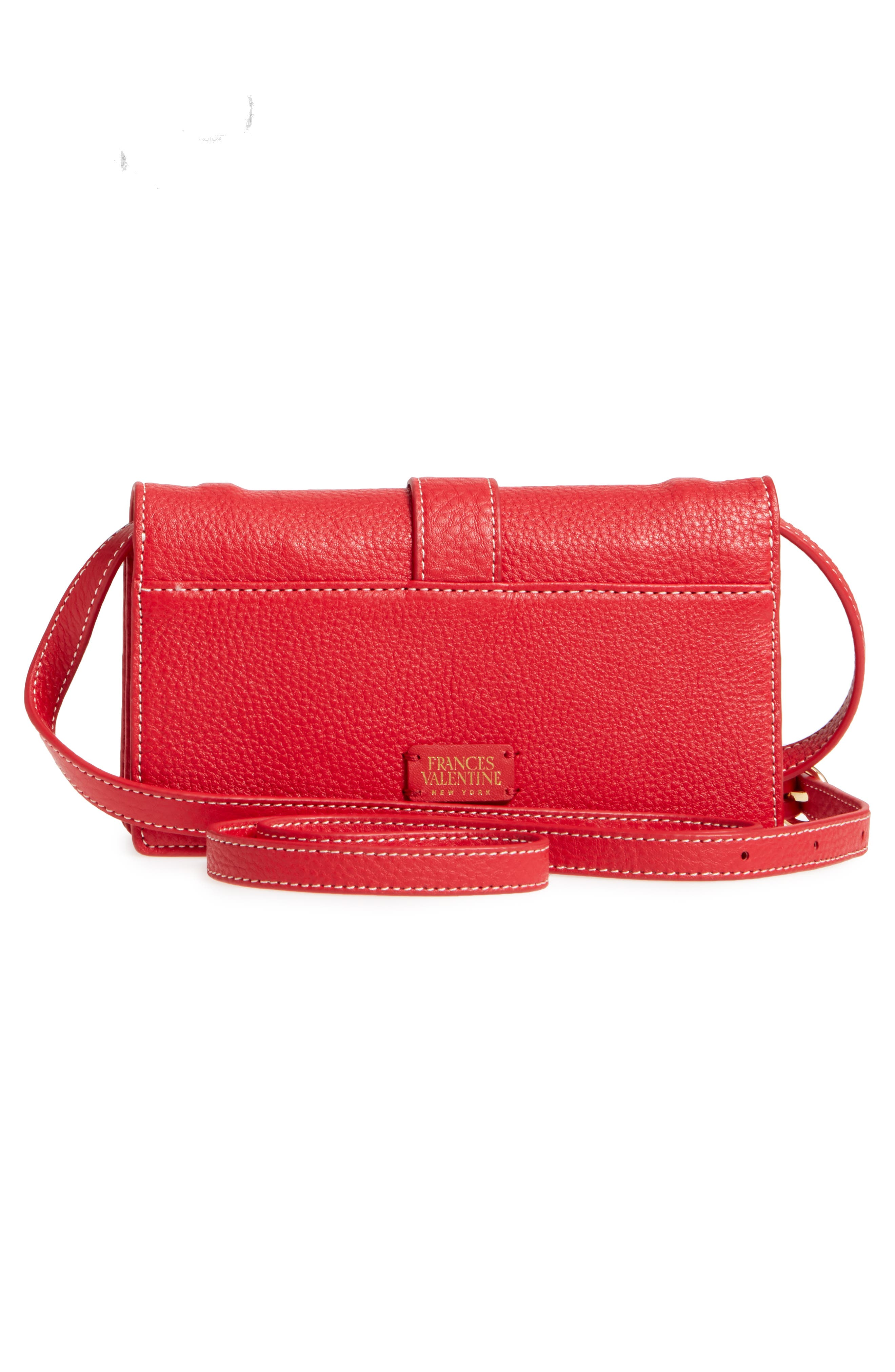 Calfskin Leather Crossbody Wallet,                             Alternate thumbnail 12, color,
