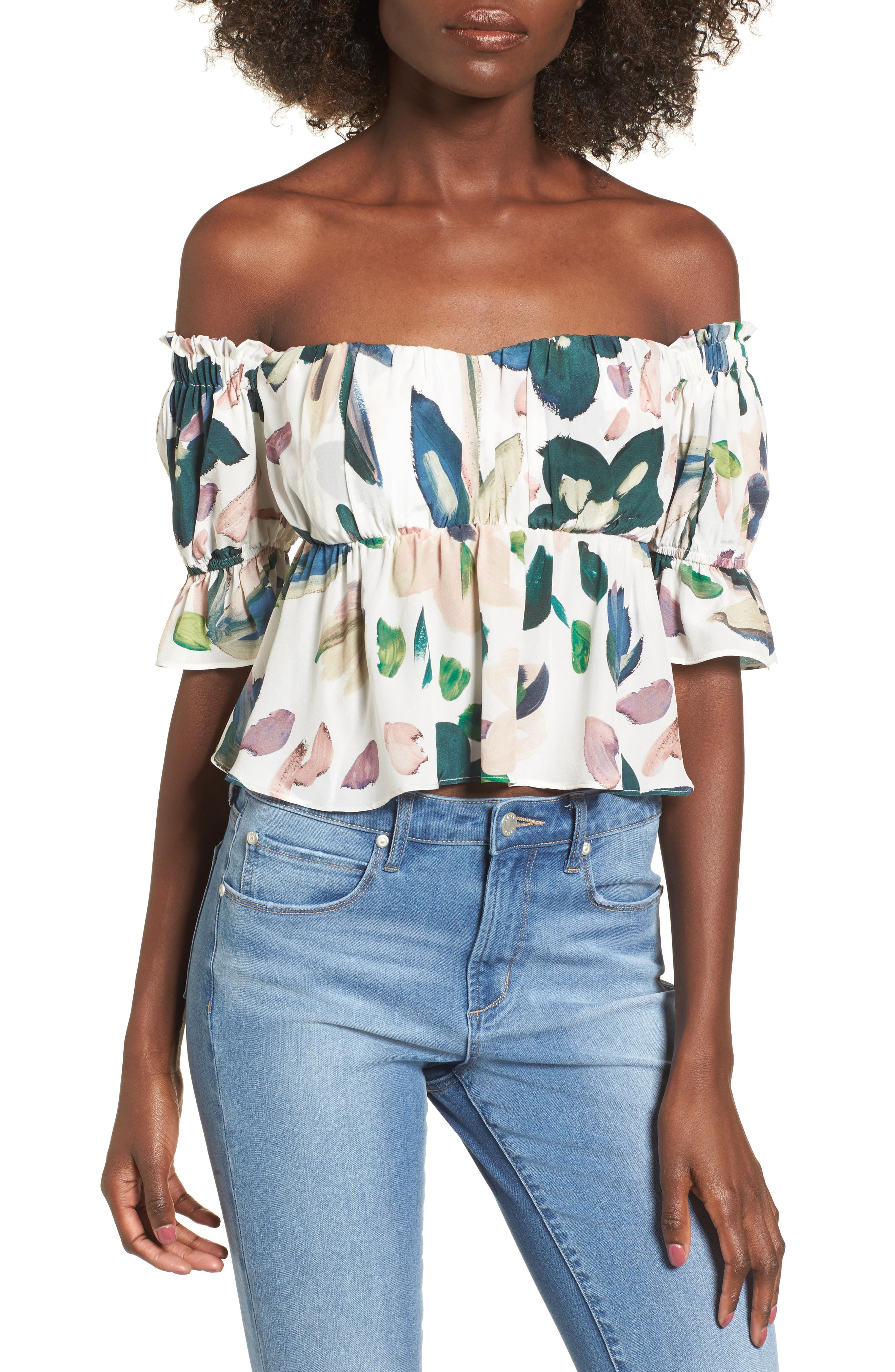 Monte Off the Shoulder Top,                             Main thumbnail 1, color,                             100