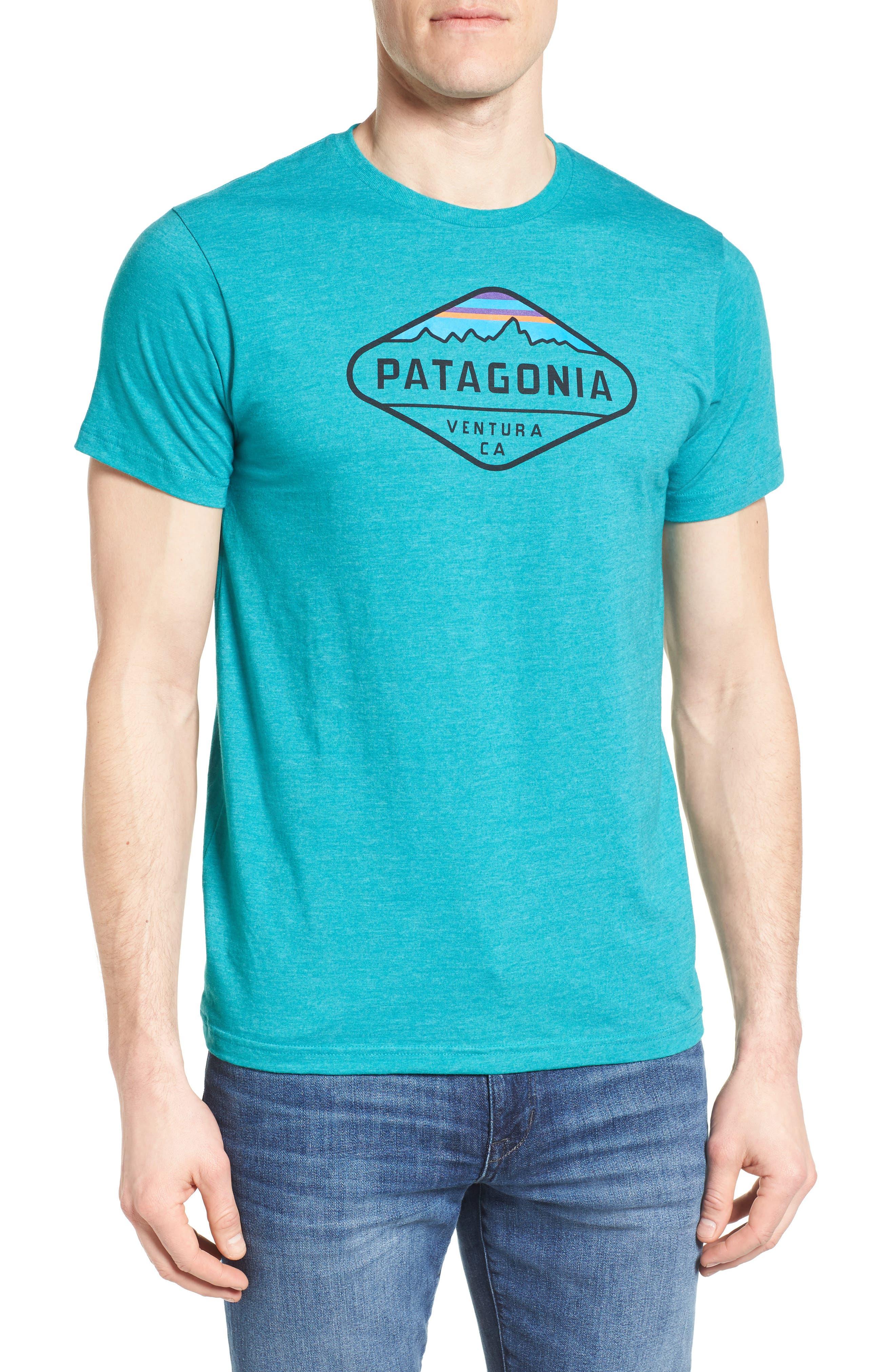 'Fitz Roy Crest' Slim Fit Organic Cotton Blend T-Shirt,                             Main thumbnail 6, color,
