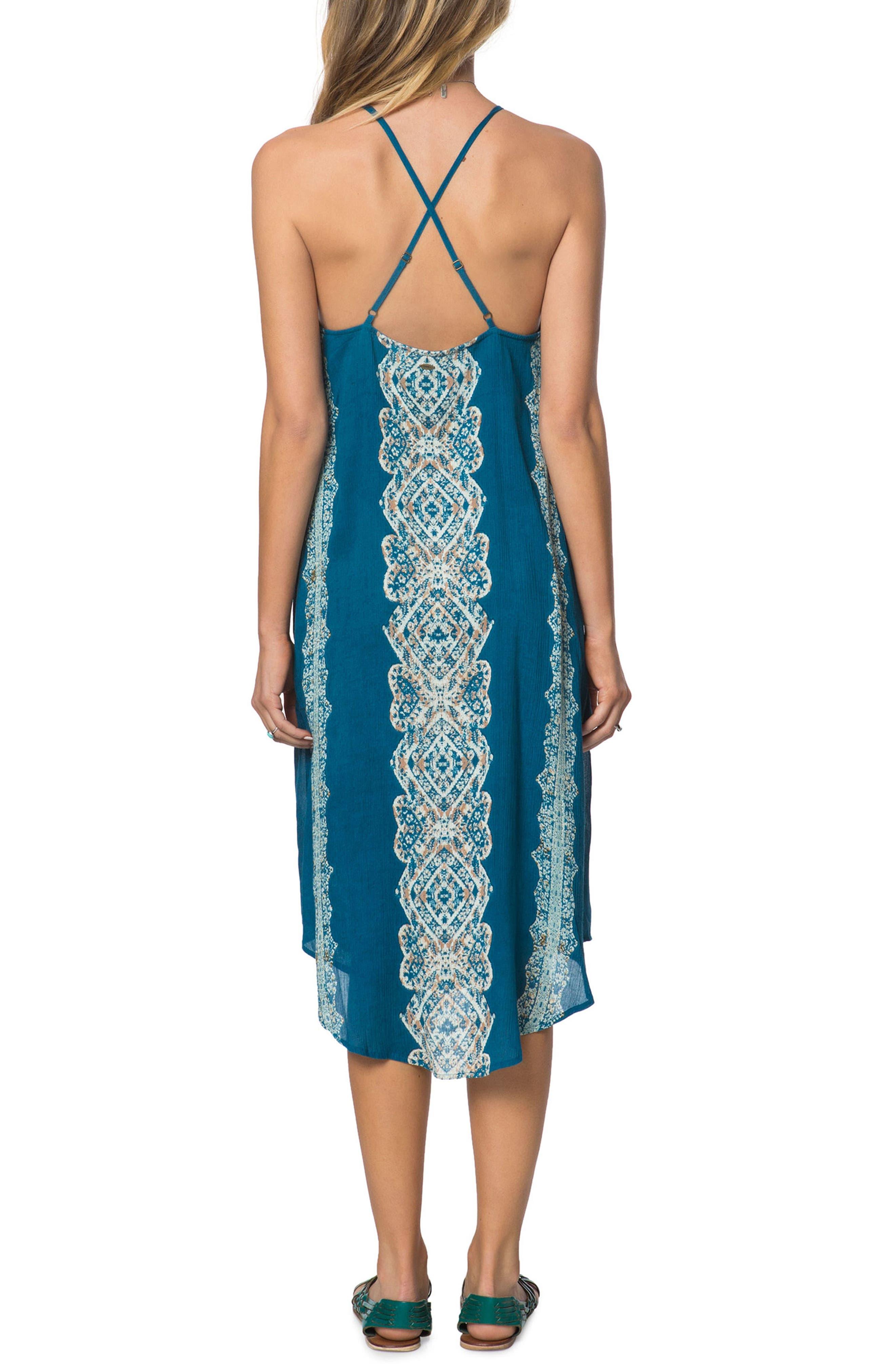 Nicole Lace-Up Midi Dress,                             Alternate thumbnail 2, color,                             435