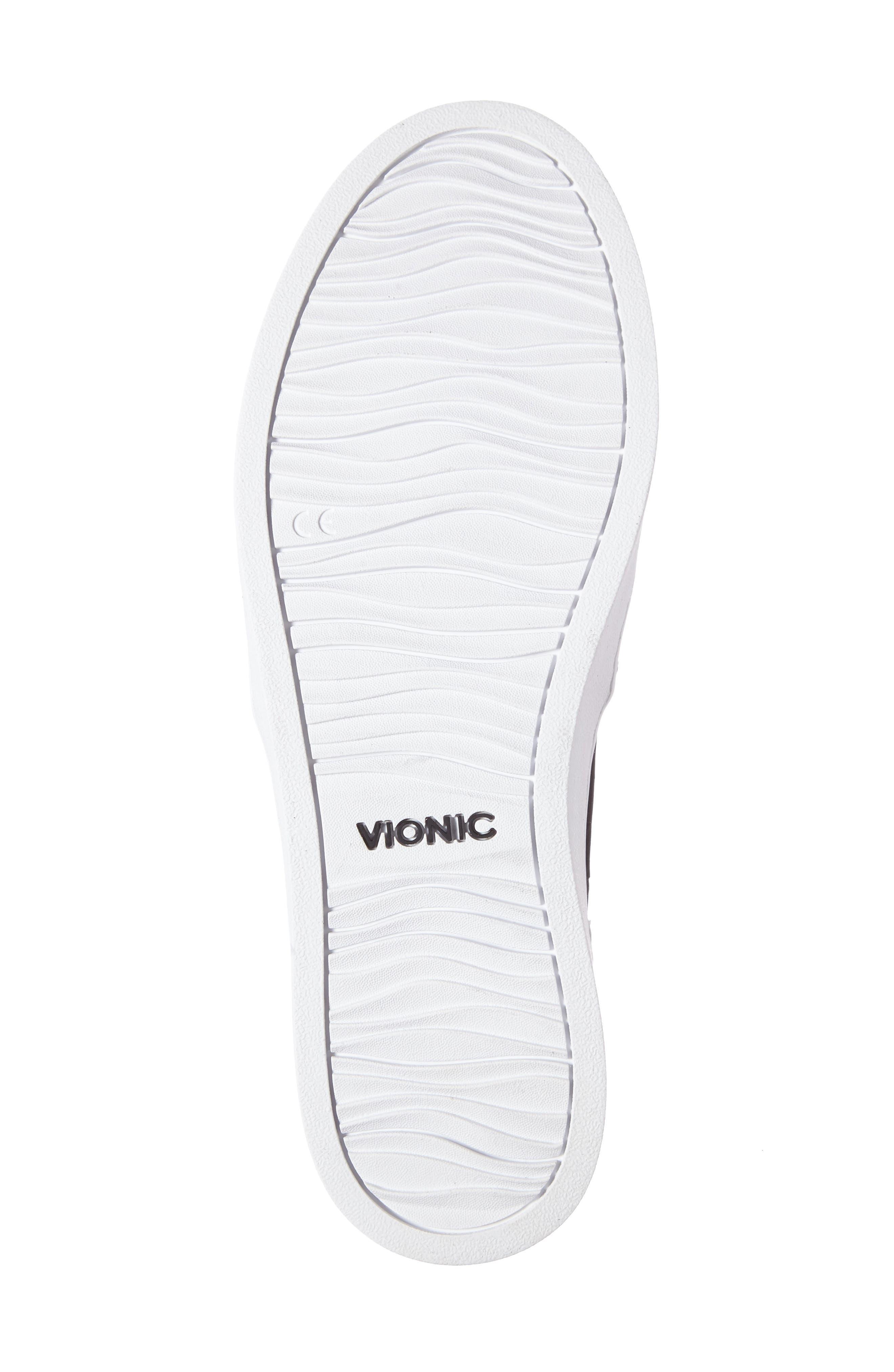 Perforated Slip-On Sneaker,                             Alternate thumbnail 4, color,                             BLACK