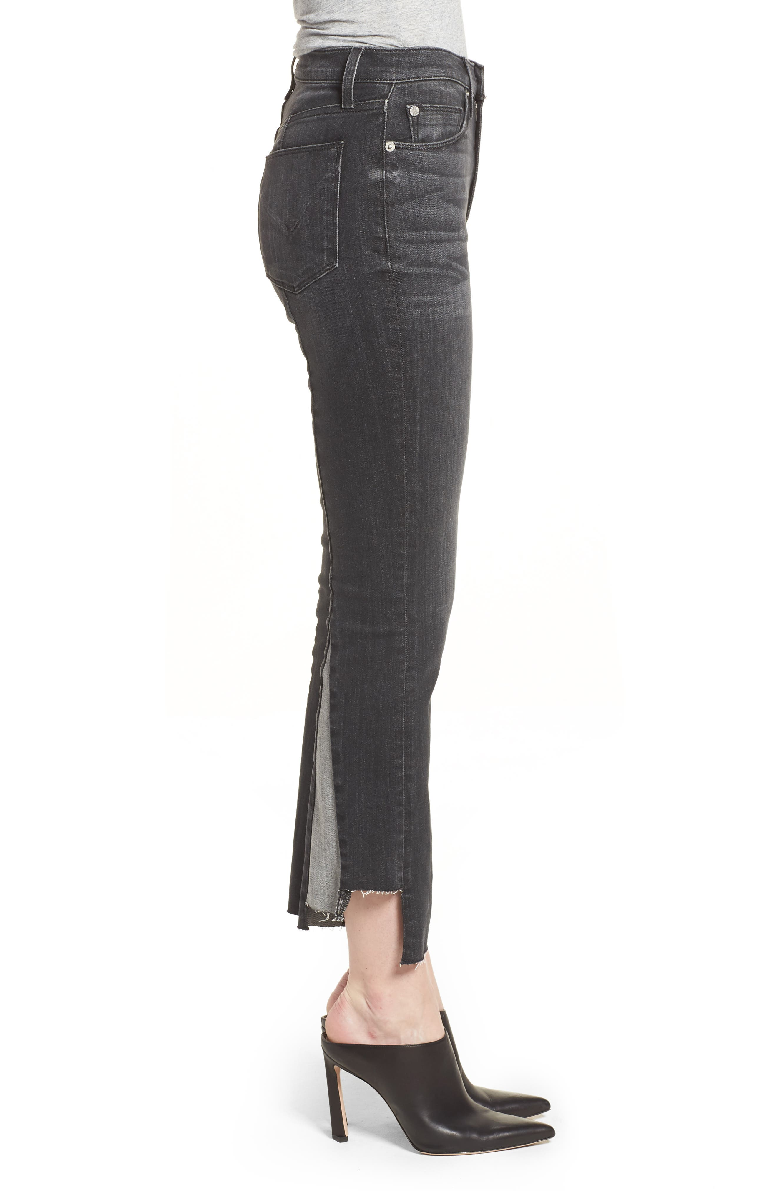 Holly High Waist Crop Flare Jeans,                             Alternate thumbnail 3, color,                             REAL WORLD