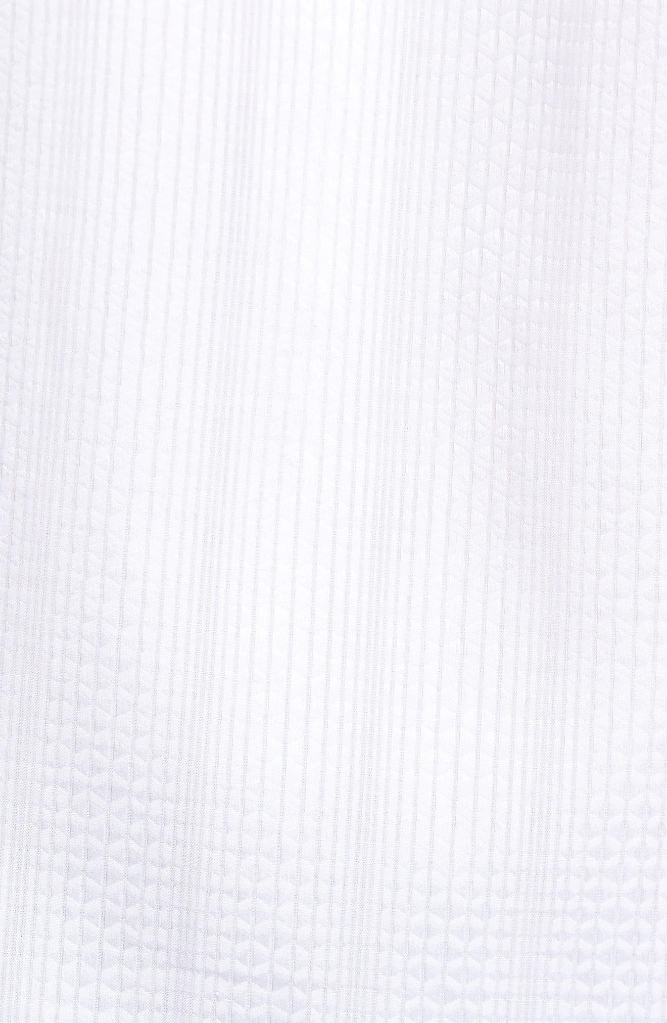 Tonal Diamond Jacquard Classic Fit Sport Shirt,                             Alternate thumbnail 5, color,                             100