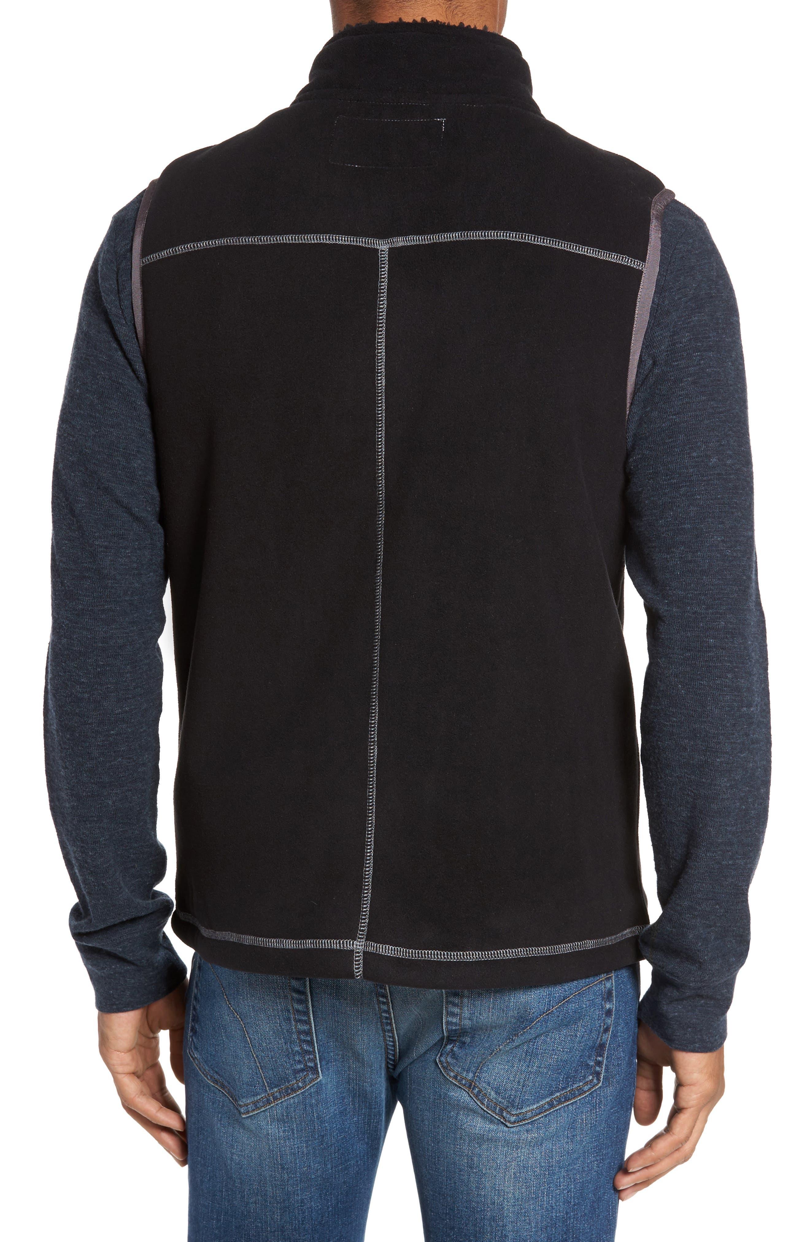 Bonded Fleece Zip Front Vest,                             Alternate thumbnail 2, color,                             001