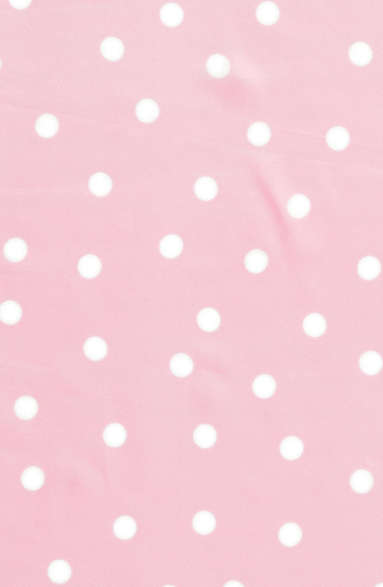 dancing dot silk bandana,                             Alternate thumbnail 4, color,                             PARISIAN PINK/ CREAM