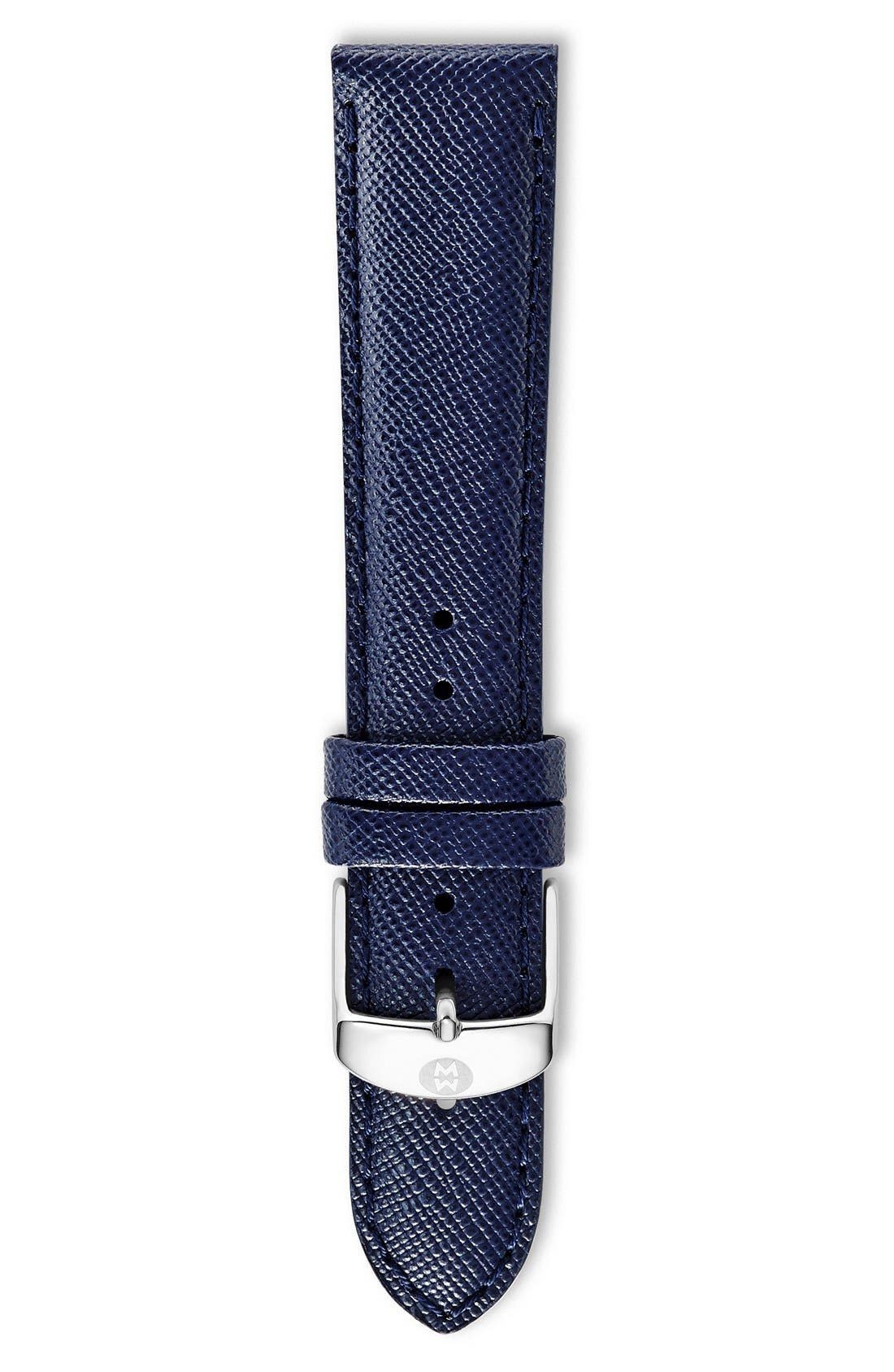 18mm Saffiano Leather Watch Strap,                             Main thumbnail 4, color,