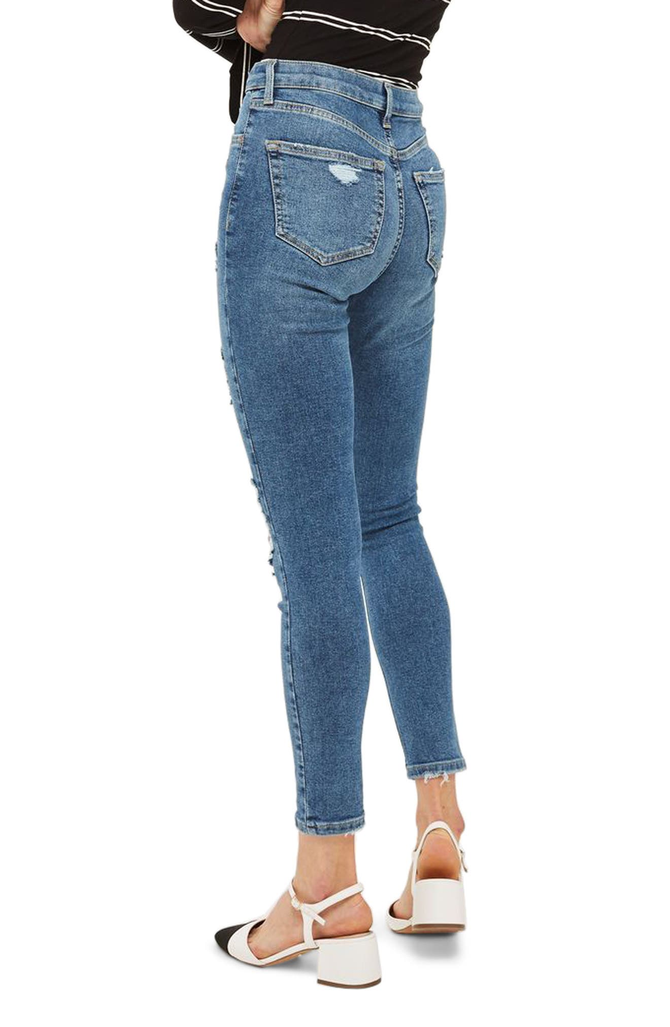 Jamie Distressed Ankle Skinny Jeans,                             Alternate thumbnail 2, color,                             400