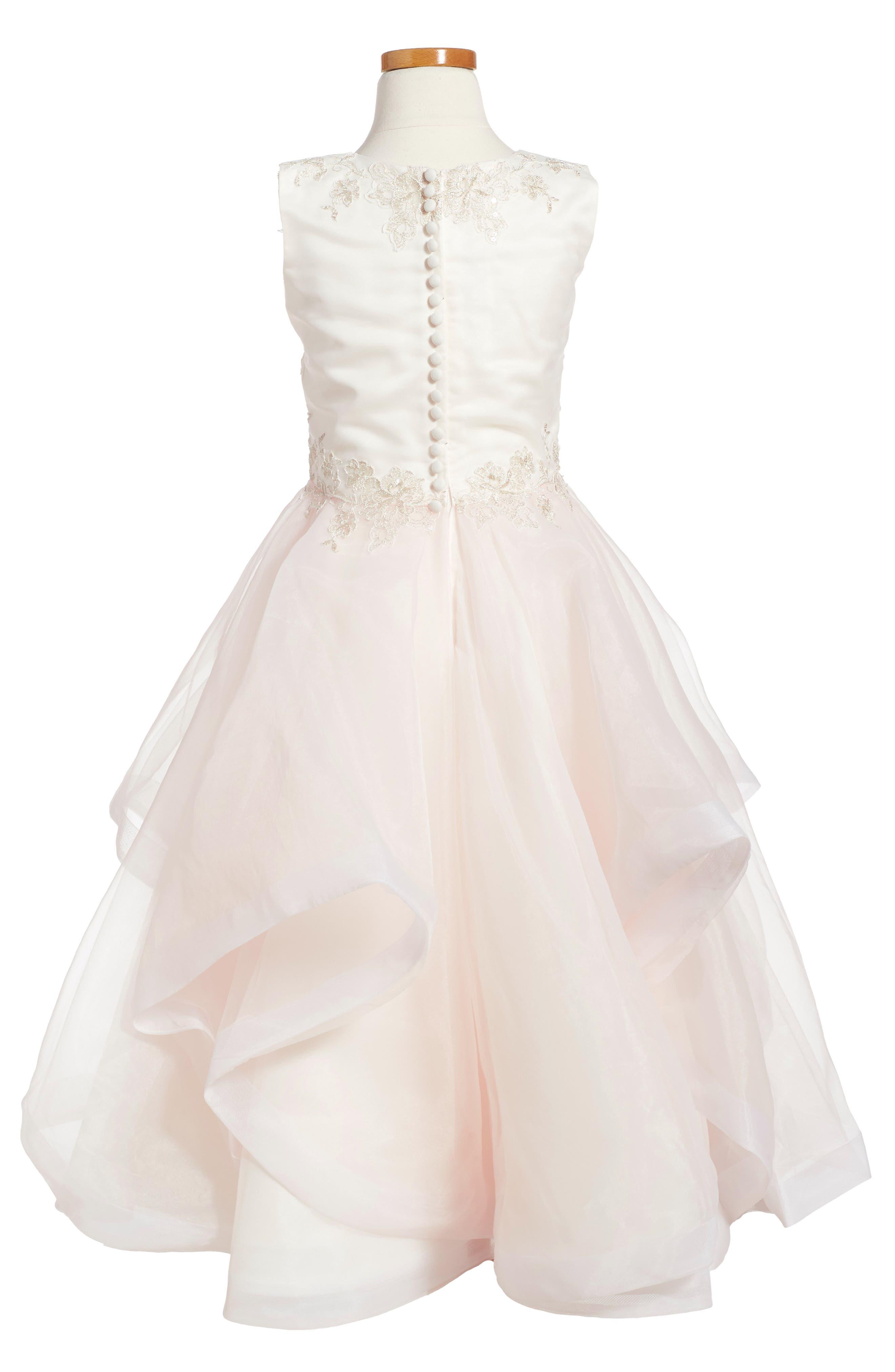 Tulle & Organza Dress,                             Alternate thumbnail 2, color,                             900